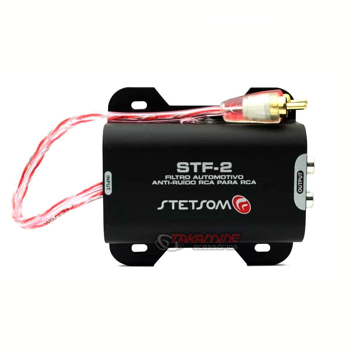 Filtro anti-ruído Stetsom STF-2 supressor RCA para som automotivo