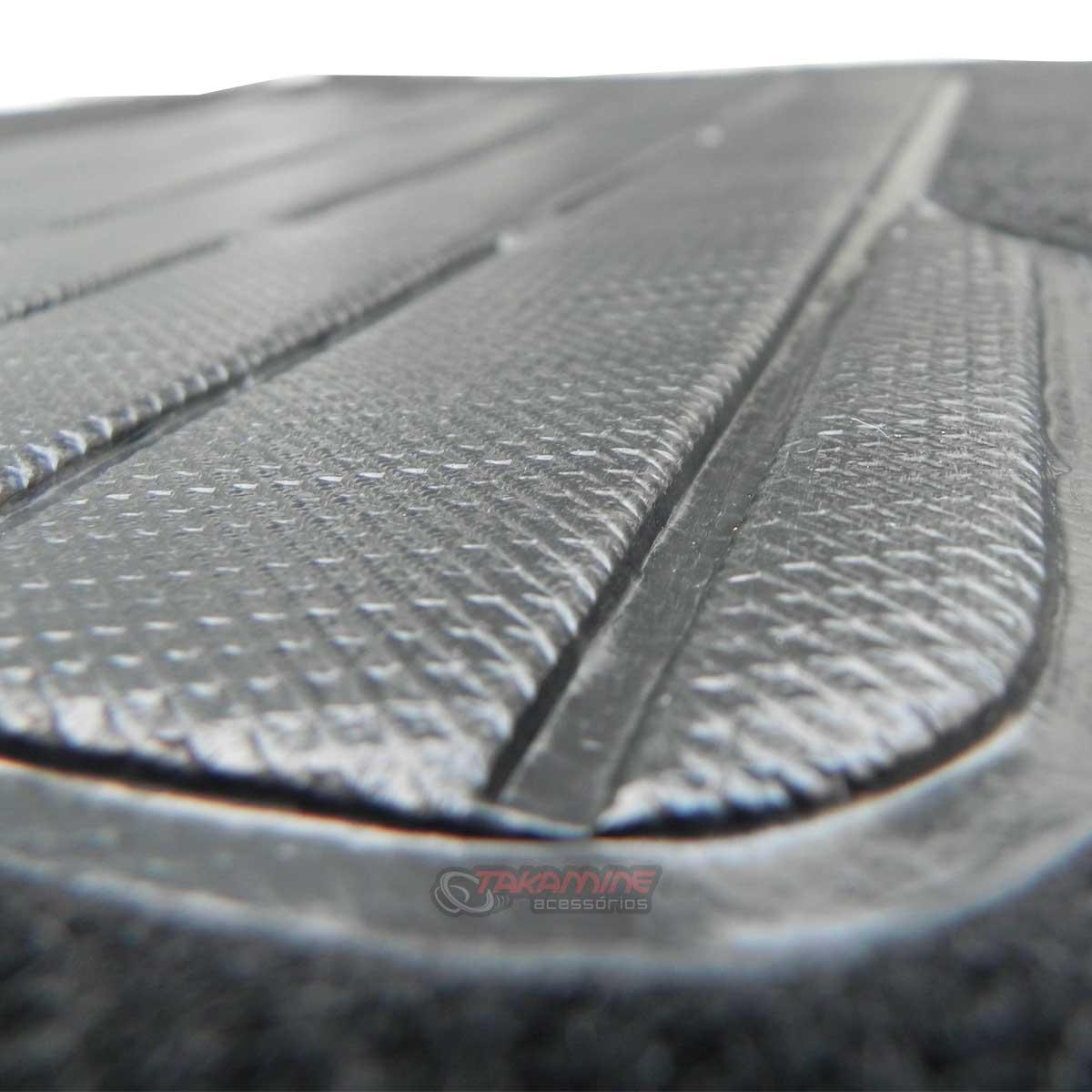 Jogo tapete carpete Accord 2006 2007 2008 2009 2010 2011 com bordado (5 peças) e base pinada