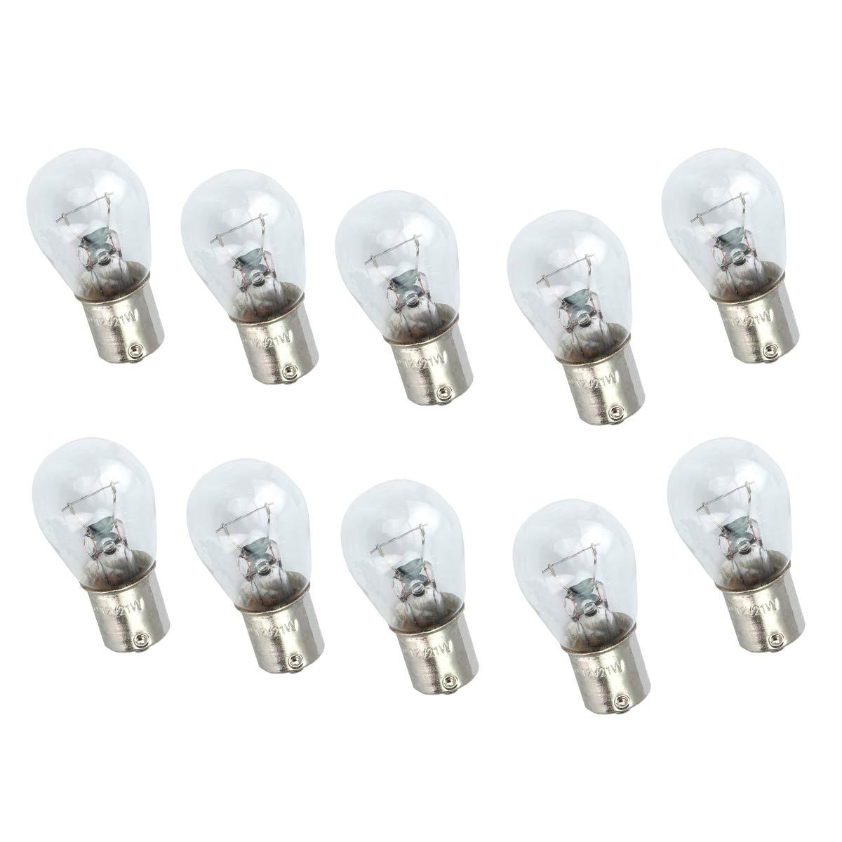Kit 10 lâmpadas 1 polo 1141 24 Volts 21W