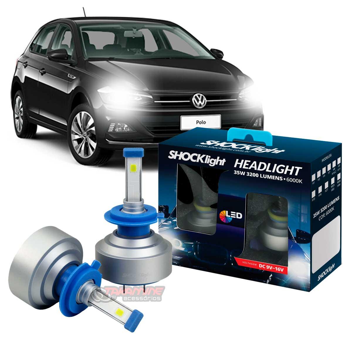 Kit LED Polo 2018 2019 2020 tipo xenon modelo H7 35W encaixe original plug & play New Headlight