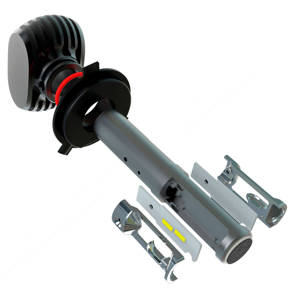 Kit Ultra LED Gol G6 2013 2014 2015 2016 tipo xenon farol alto e baixo H4 e milha H11 50W