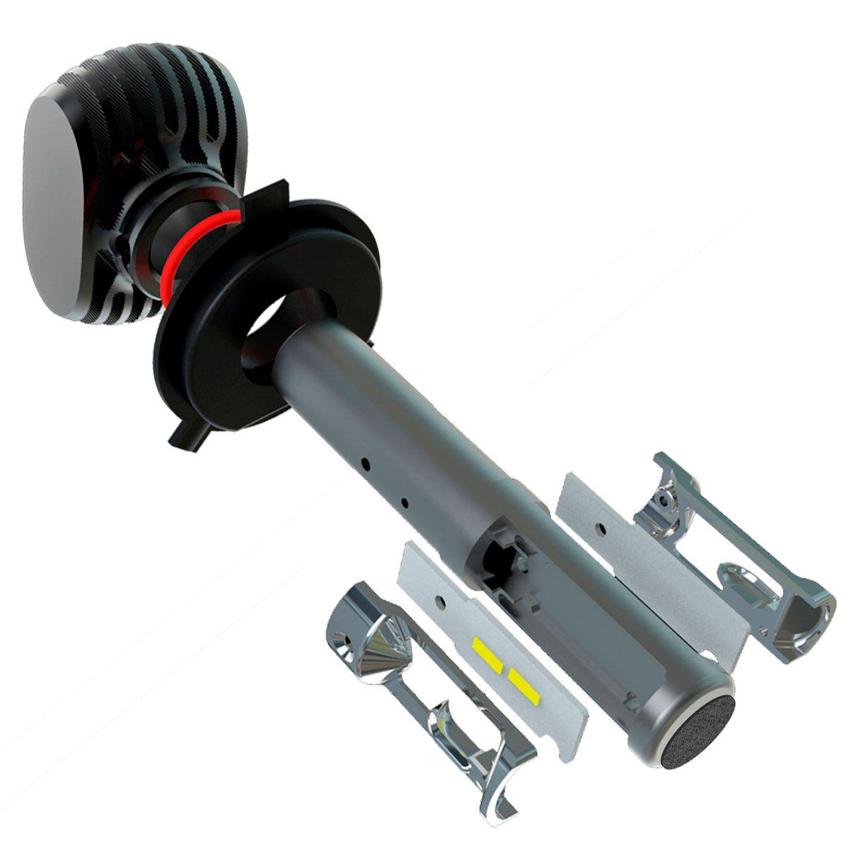 Kit Ultra LED HB20 2013 até 2020 tipo xenon farol alto e baixo H4 50W