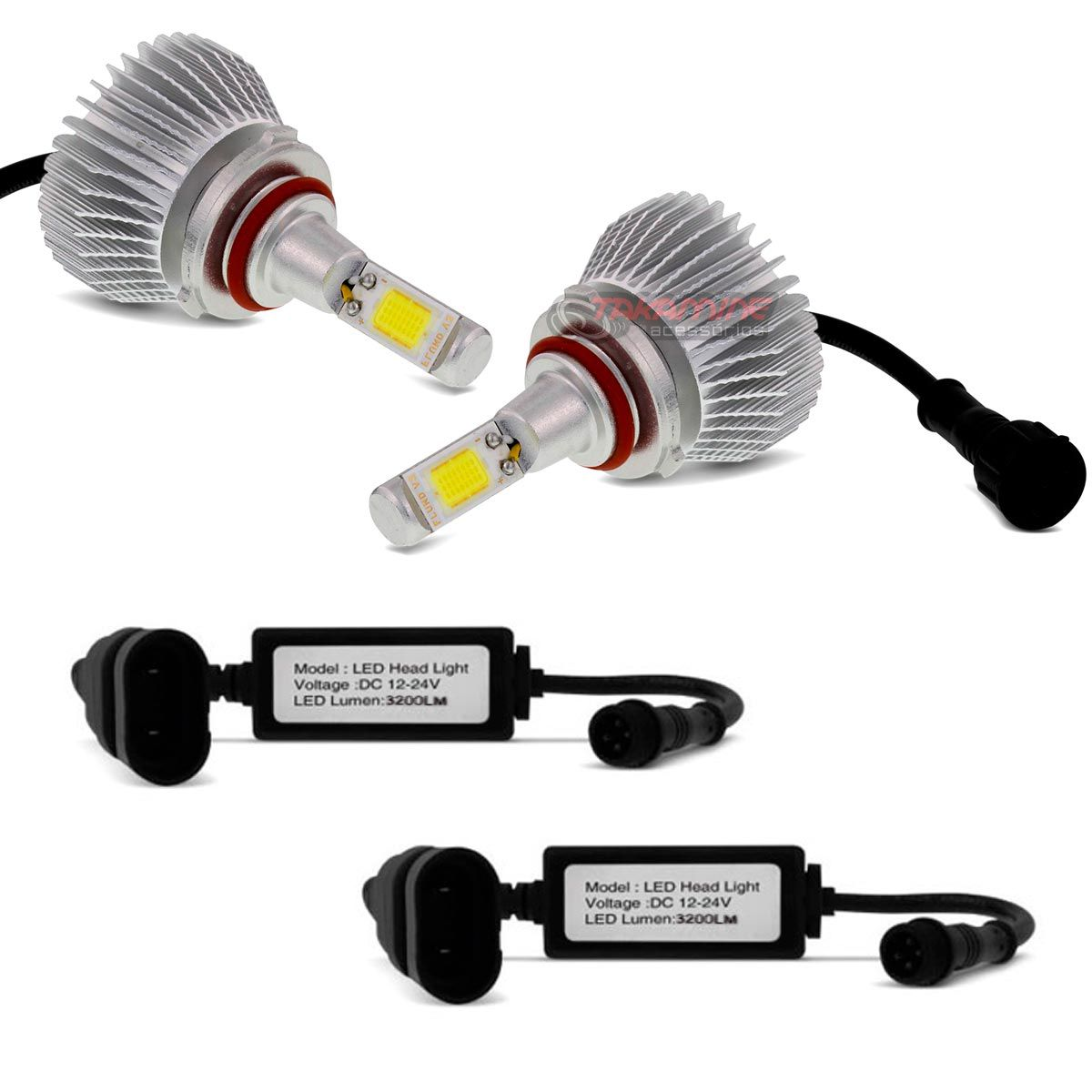 Kit LED 2D Headlight Shocklight tipo xenon Corolla 2012 2013 2014 - farol baixo HB4 35w
