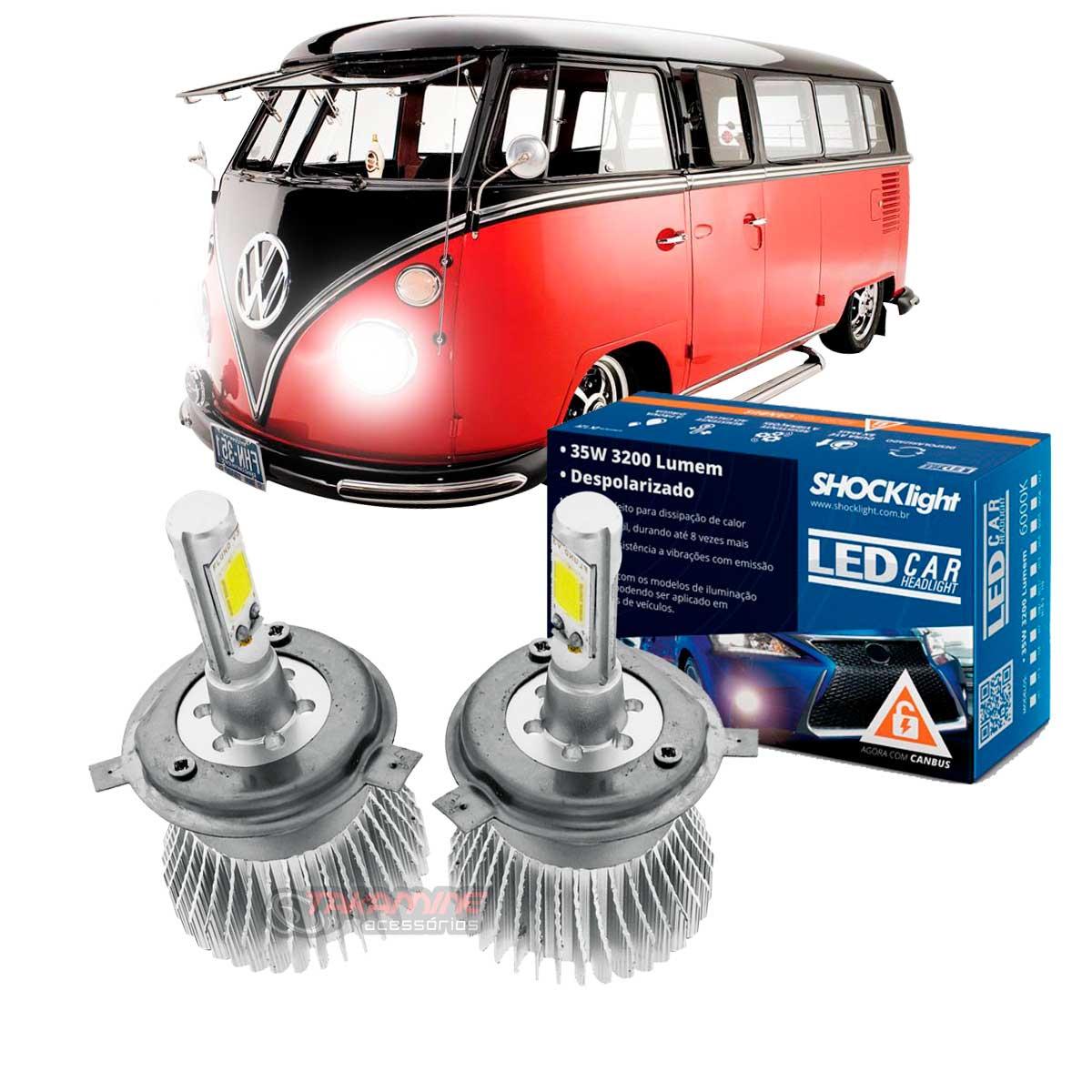 Kit LED Kombi 1958 até 2013 tipo xenon farol alto e baixo H4 35/35W Headlight