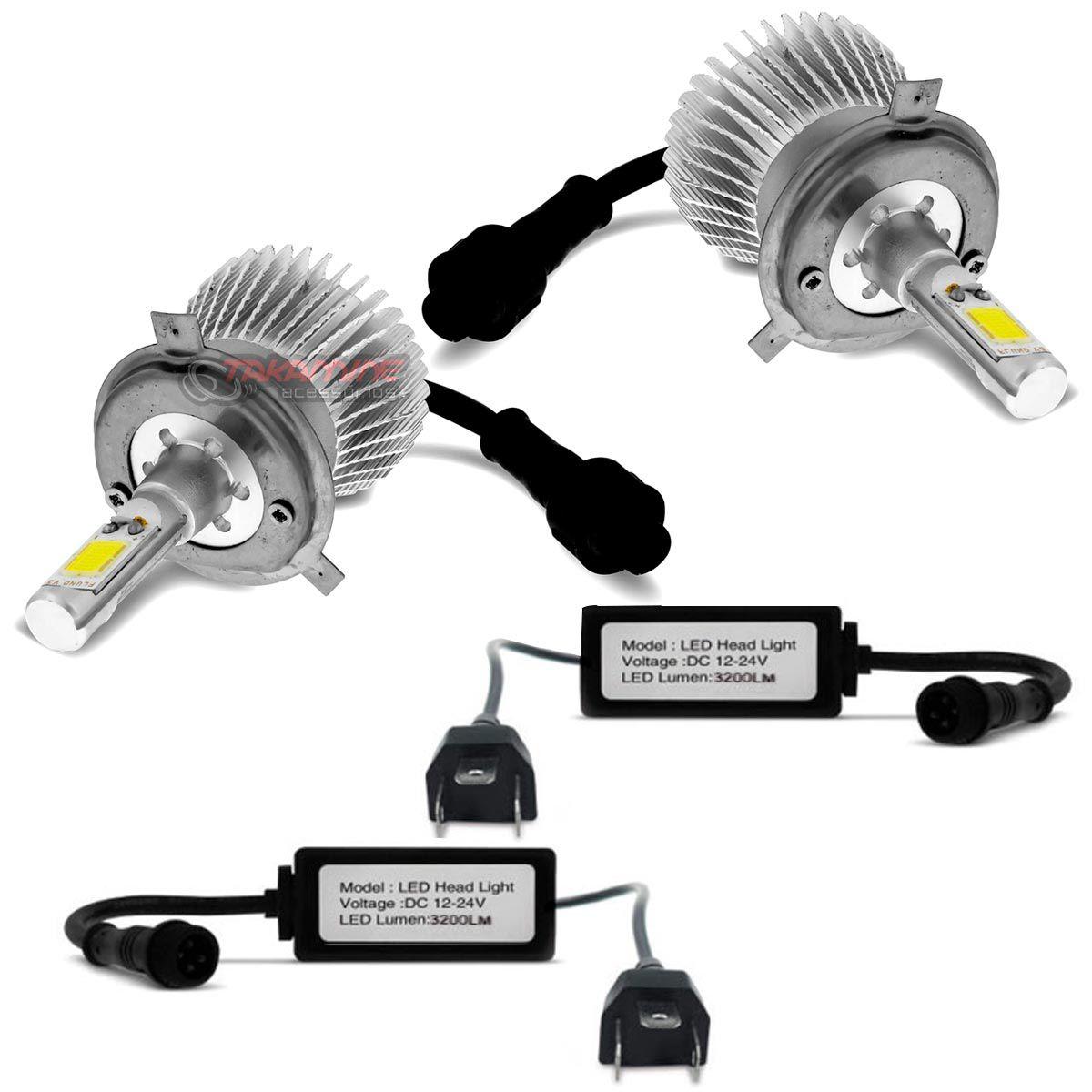 Kit LED Crossfox 2003 2004 2005 2006 2007 2008 2009 tipo xenon farol alto e baixo H4 35W Headlight