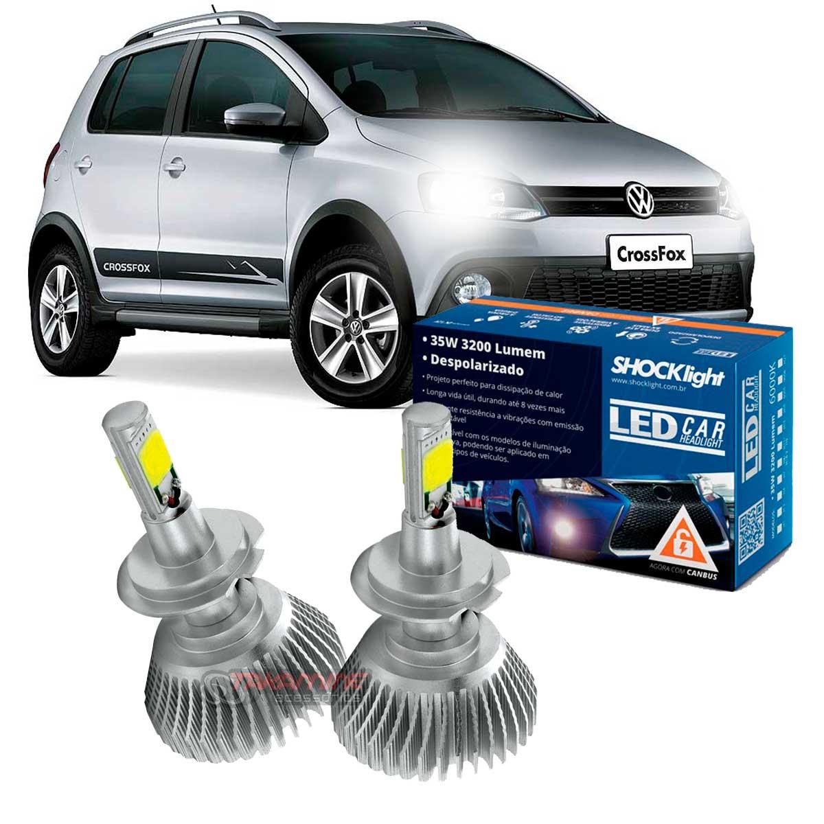 Kit LED Crossfox 2010 2011 2012 2013 2014 2015 tipo xenon farol baixo H7 35W Headlight