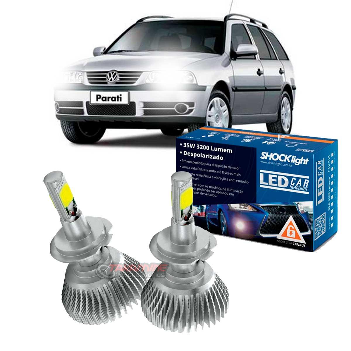 Kit LED Parati G3 Farol Duplo 2000 2001 2002 2003 2004 2005 tipo xenon farol baixo H7  35W Headlight