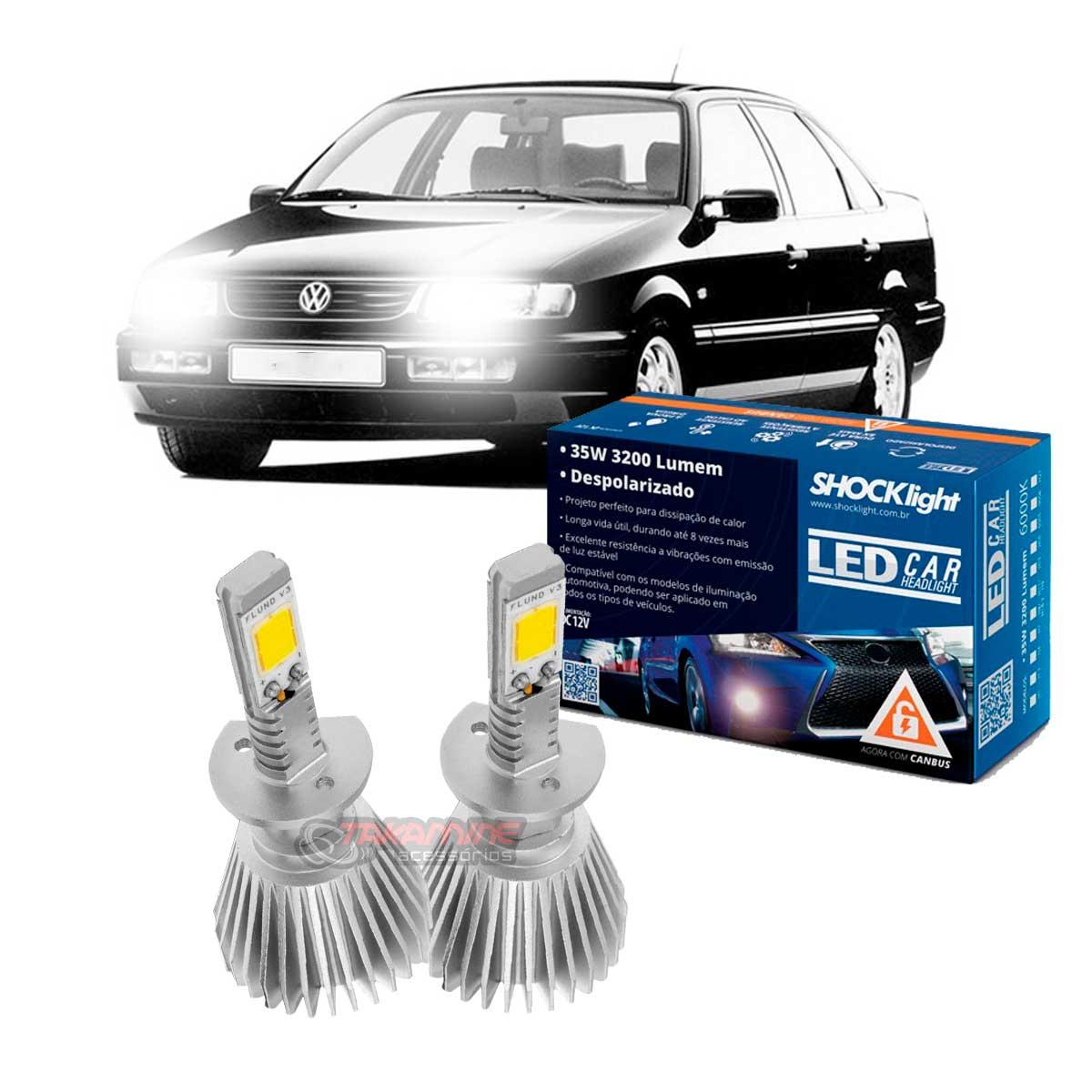 Kit LED Passat 1993 1994 1995 1996 1997 tipo xenon para farol baixo H1 35W Headlight