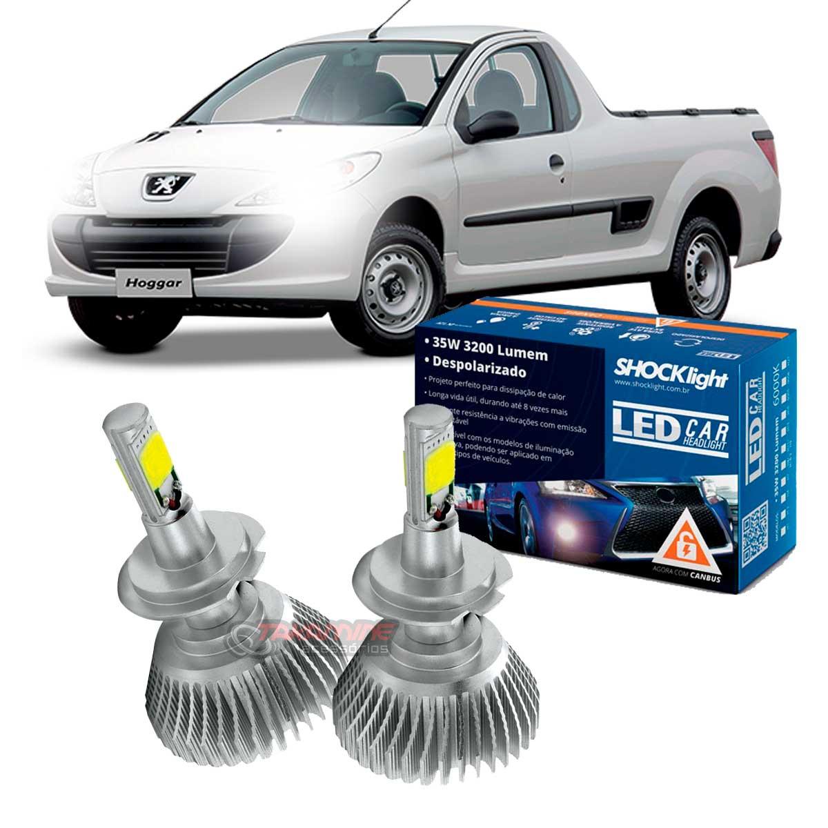 Kit LED Peugeot Hoggar 2010 2011 2012 2013 tipo xenon farol baixo H7 35W Headlight