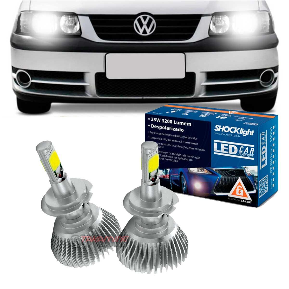 Kit LED Saveiro G3 farol duplo 2000 2001 2002 2003 2004 2005 tipo xenon farol baixo H7 35W Headlight