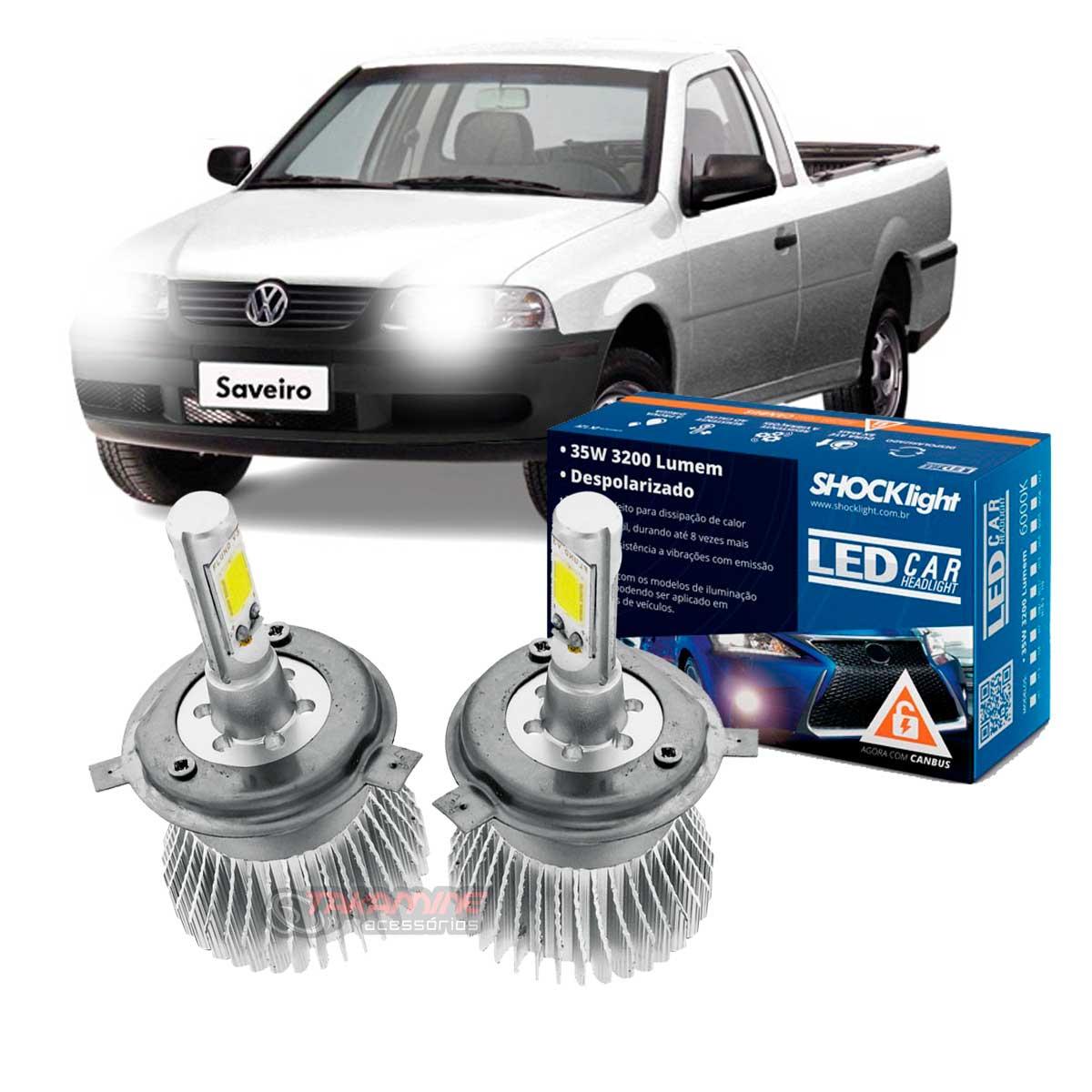 Kit LED Saveiro G3 farol Simples 2005 tipo xenon farol alto e baixo H4 35/35W Headlight