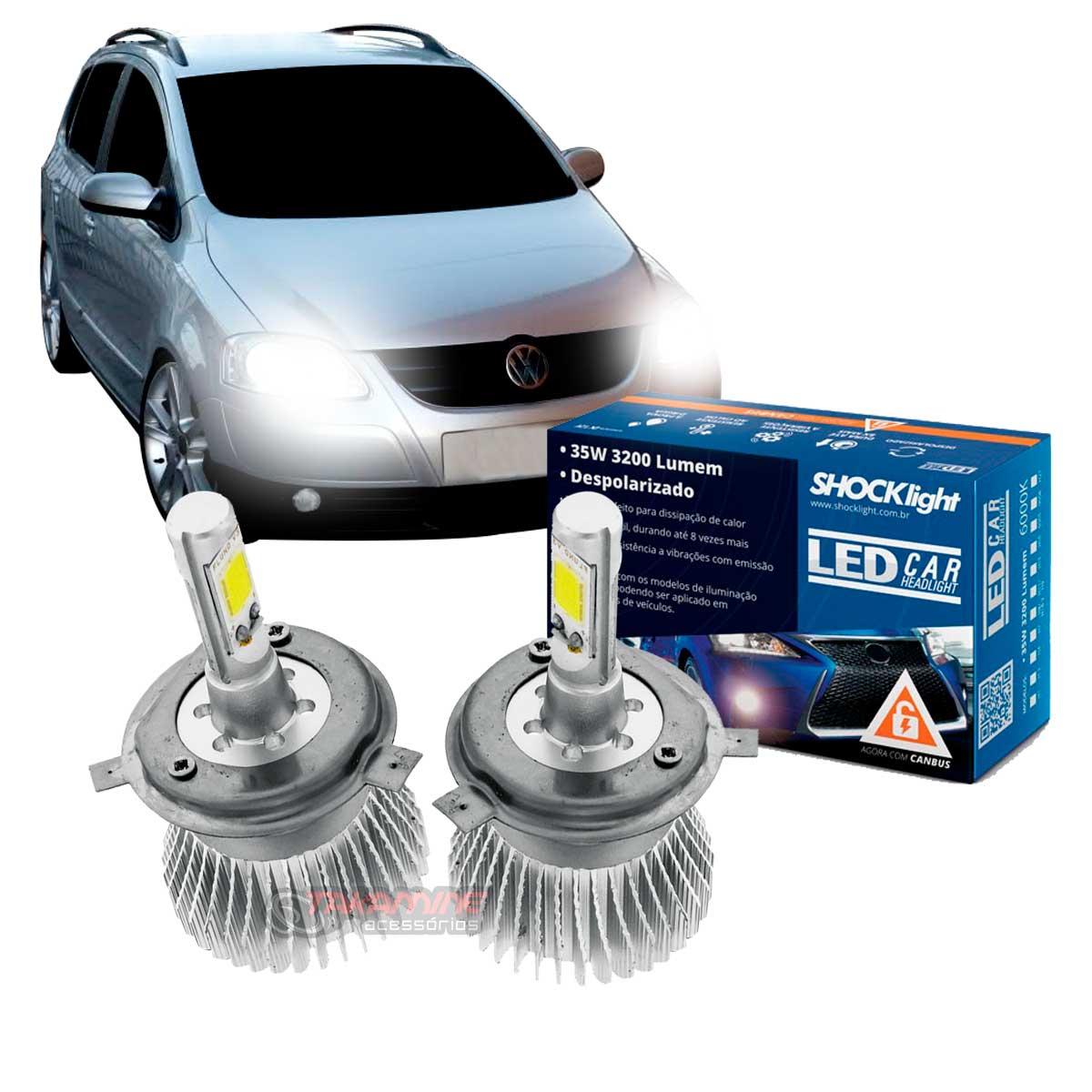 Kit LED SpaceFox 2007 2008 2009 tipo xenon farol alto e baixo H4 35/35W Headlight