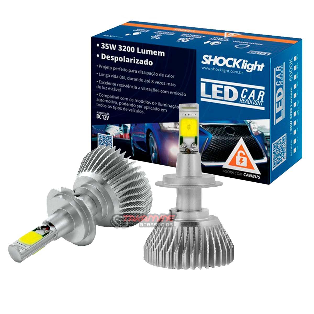 Kit LED Argo 2017 2018 2019 2020 tipo xenon farol baixo H7 35W Headlight