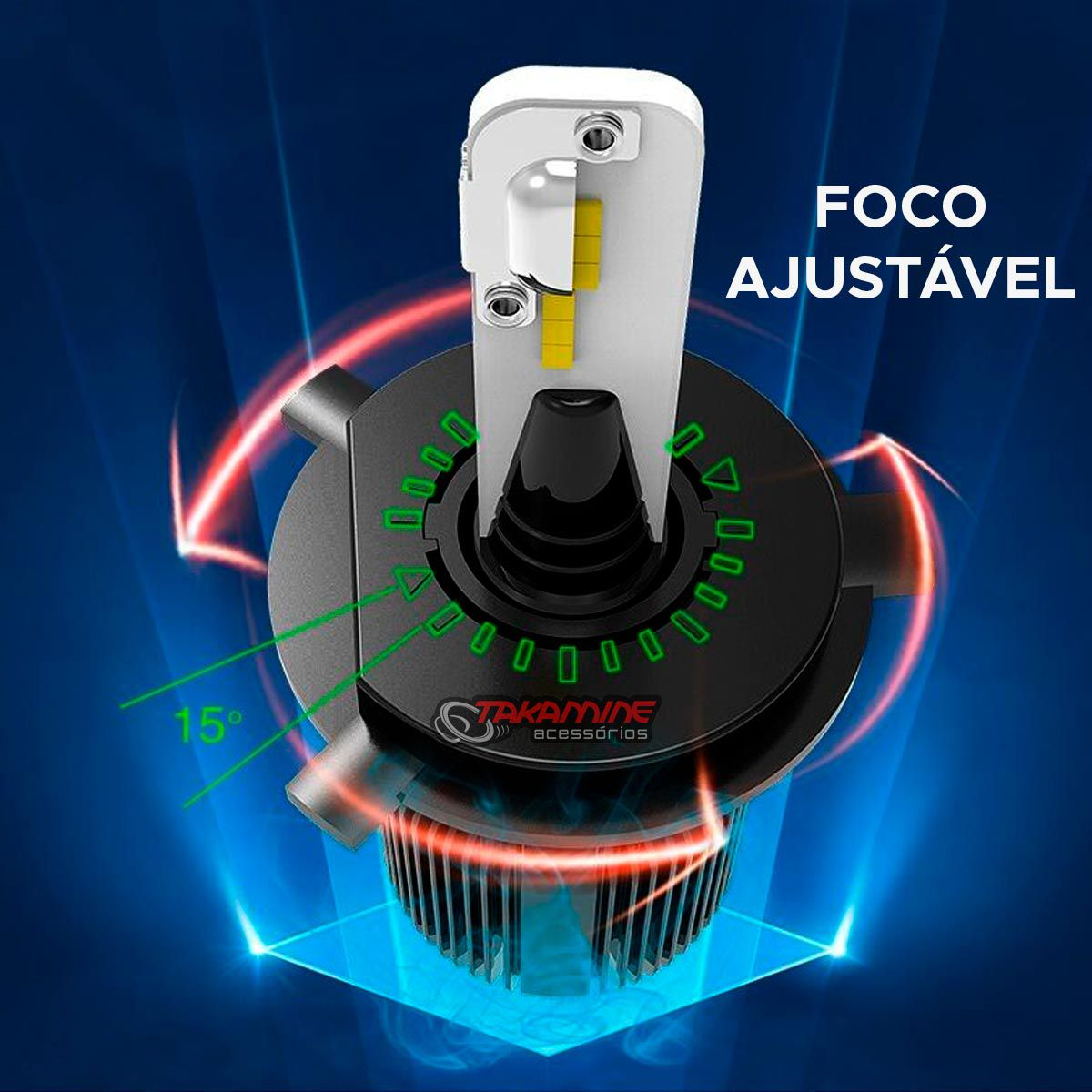 Kit de lâmpadas LED Dual Color Headlight Shocklight  tipo xenon H7 25W ilumina branco e amarelo