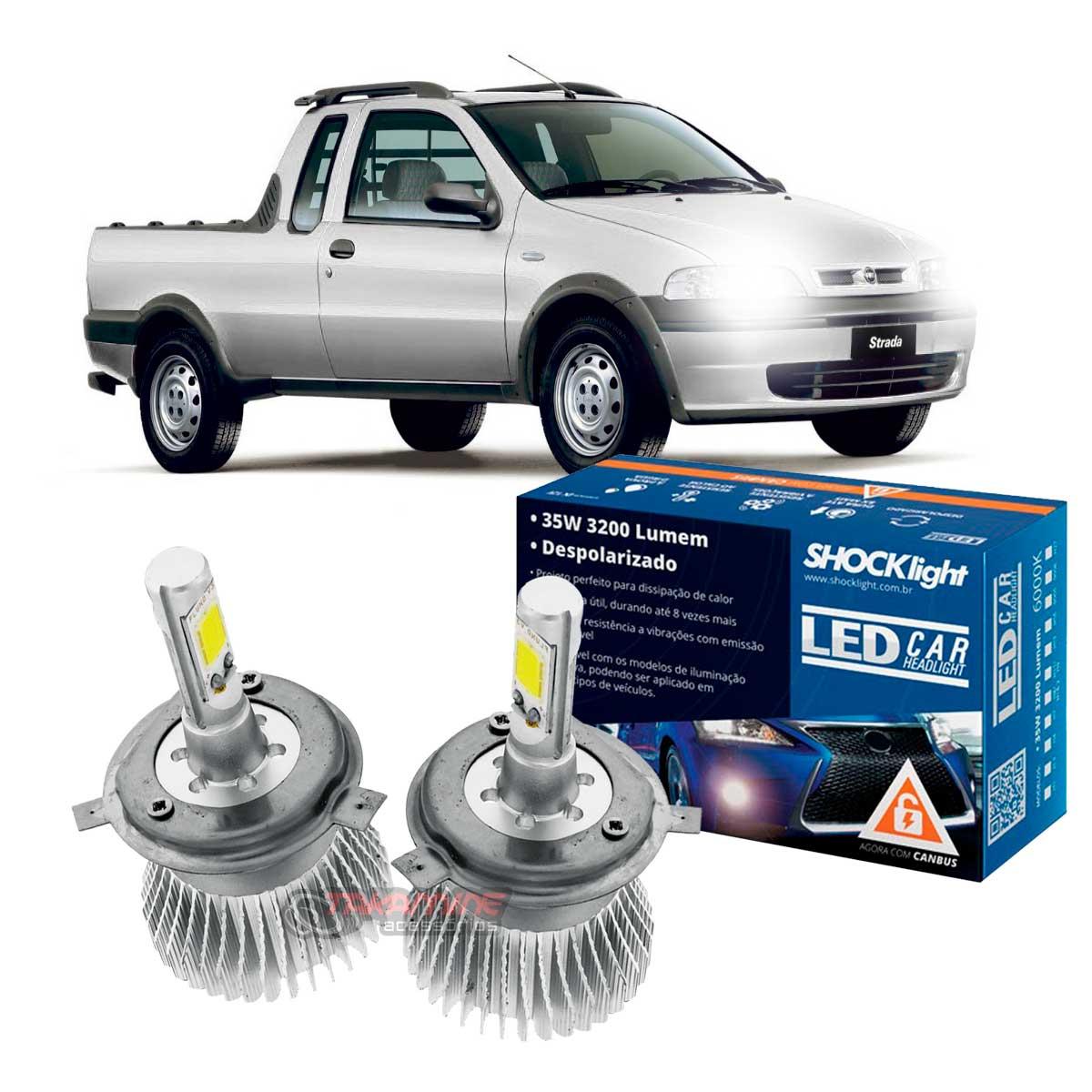 Kit LED Strada 1996 1997 1998 1999 2000 2001 tipo xenon farol alto e baixo H4 35W Headlight