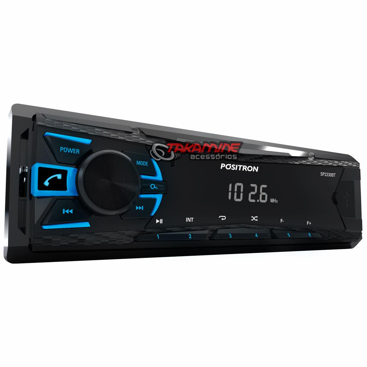 "Kit Som automotivo MP3 Positron + Par Falantes triaxiais JBL Selenium 6"""