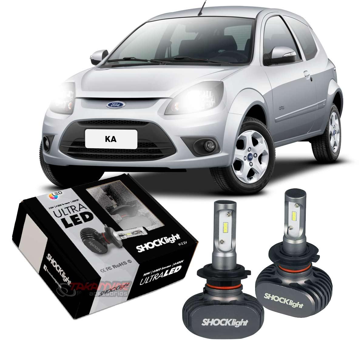 Kit Ultra LED Ka 1997 até 2014 tipo xenon farol baixo H7 50W