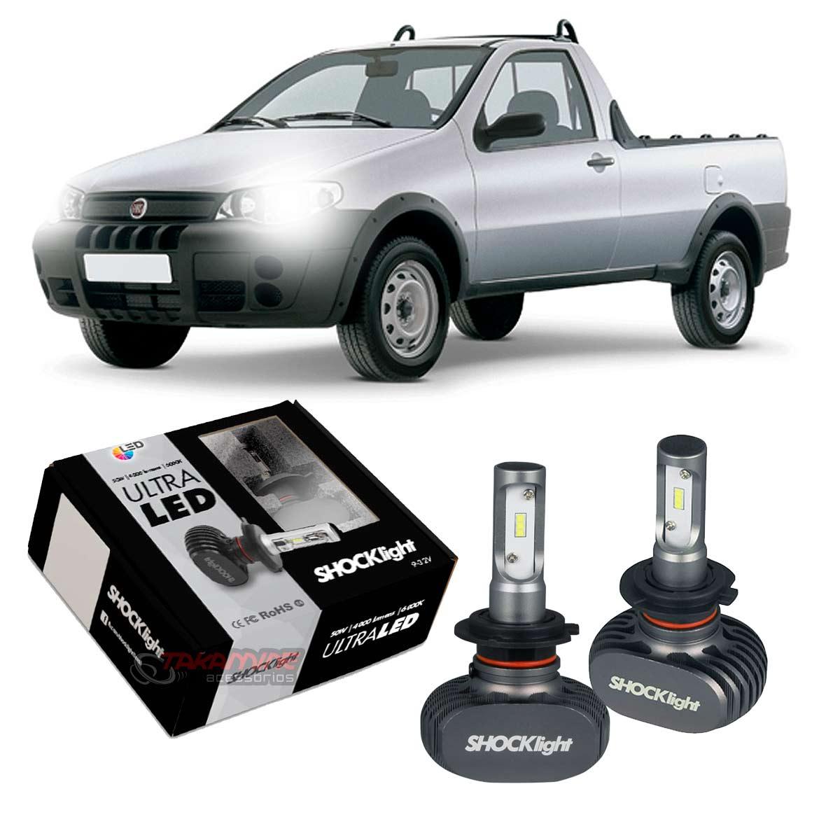 Kit Ultra LED Strada 1996 até 2007 tipo xenon farol baixo H7 50W