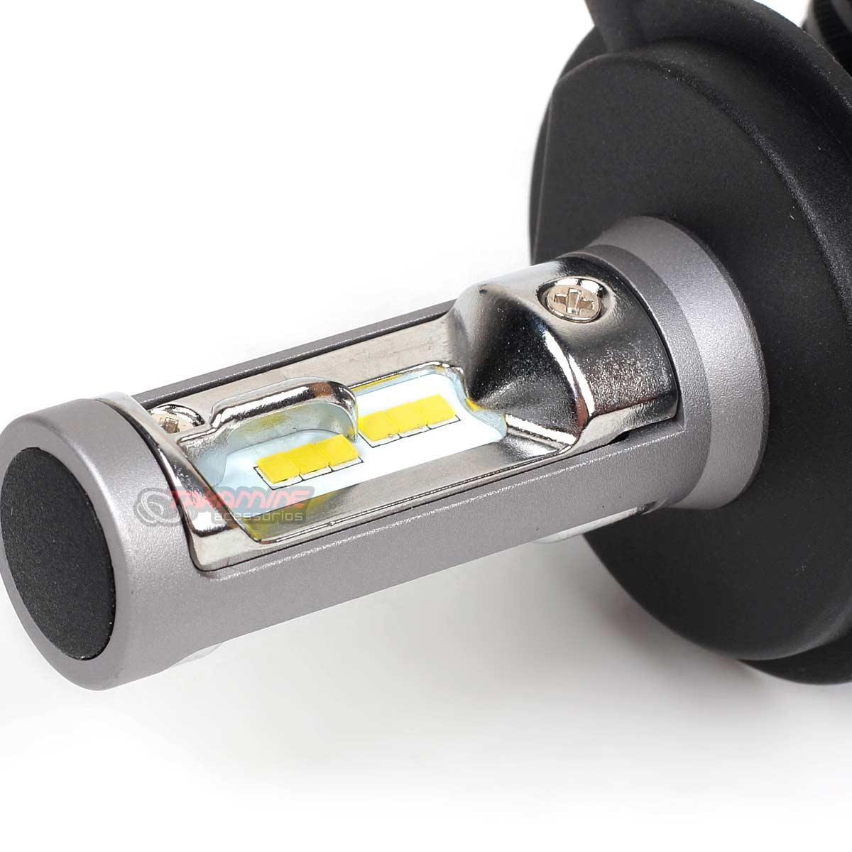 Kit Ultra LED Onix 2012 até 2020 tipo xenon farol alto e baixo H4 50W