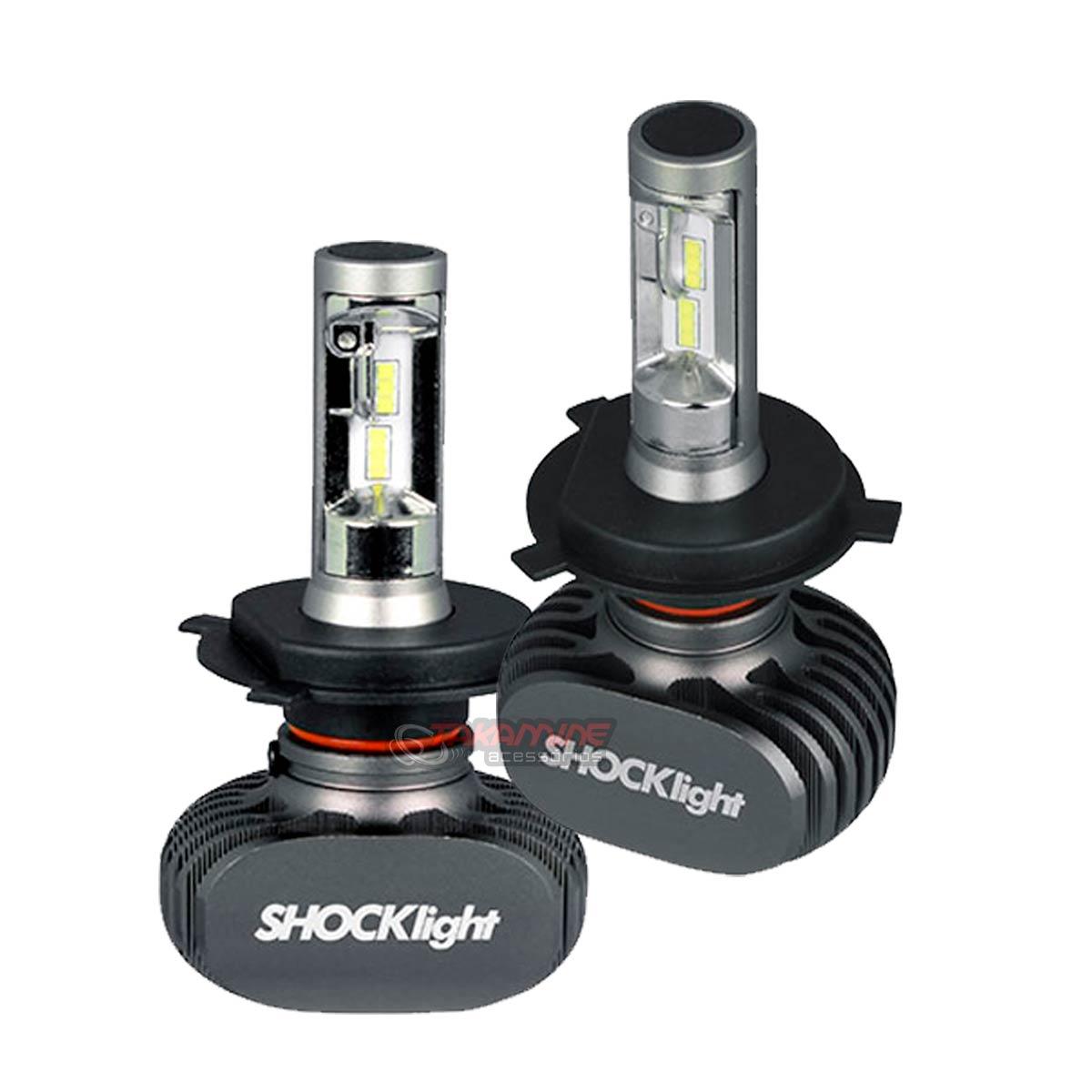 Kit Ultra LED Logan 2007 2008 2009 2010 2011 2012 2013 tipo xenon farol alto e baixo H4 50W