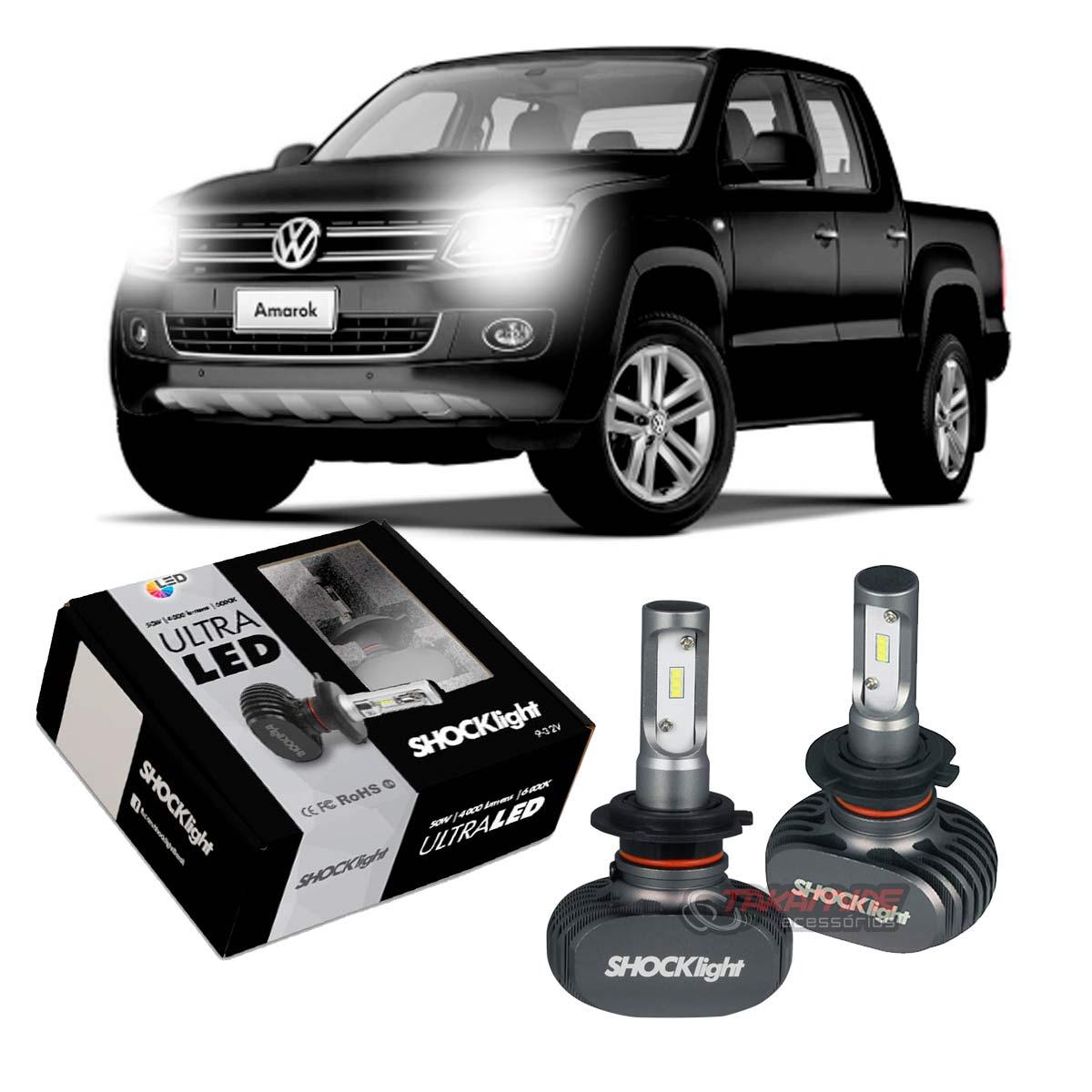 Kit Ultra LED Amarok 2011 2012 2013 2014 2015 tipo xenon farol baixo H7 50W