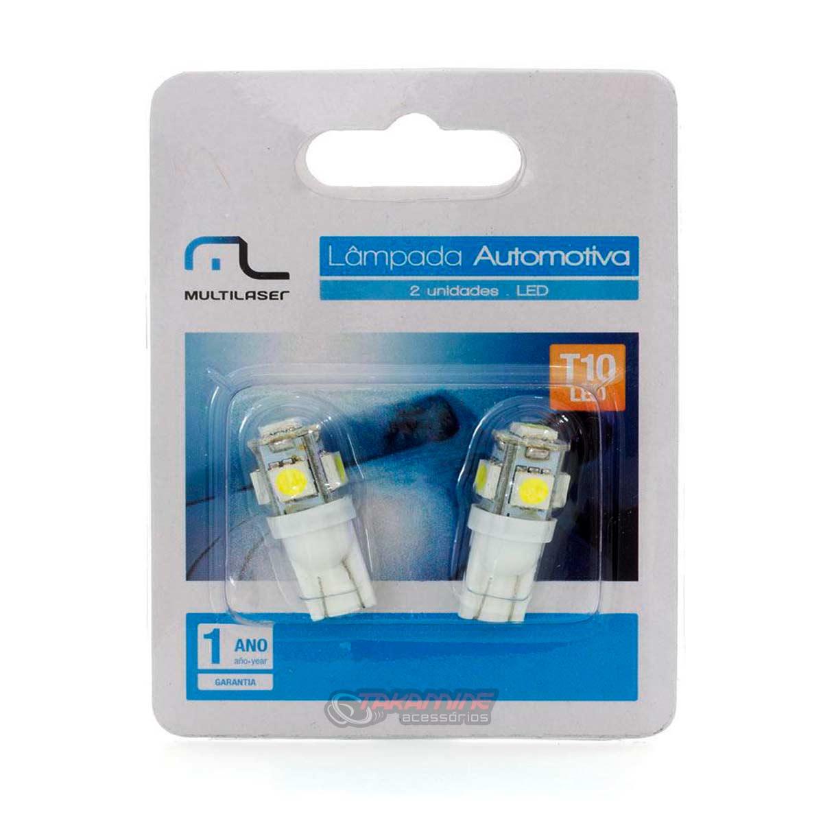 Lâmpada LED T10 Pingão super branca Multilaser AU818