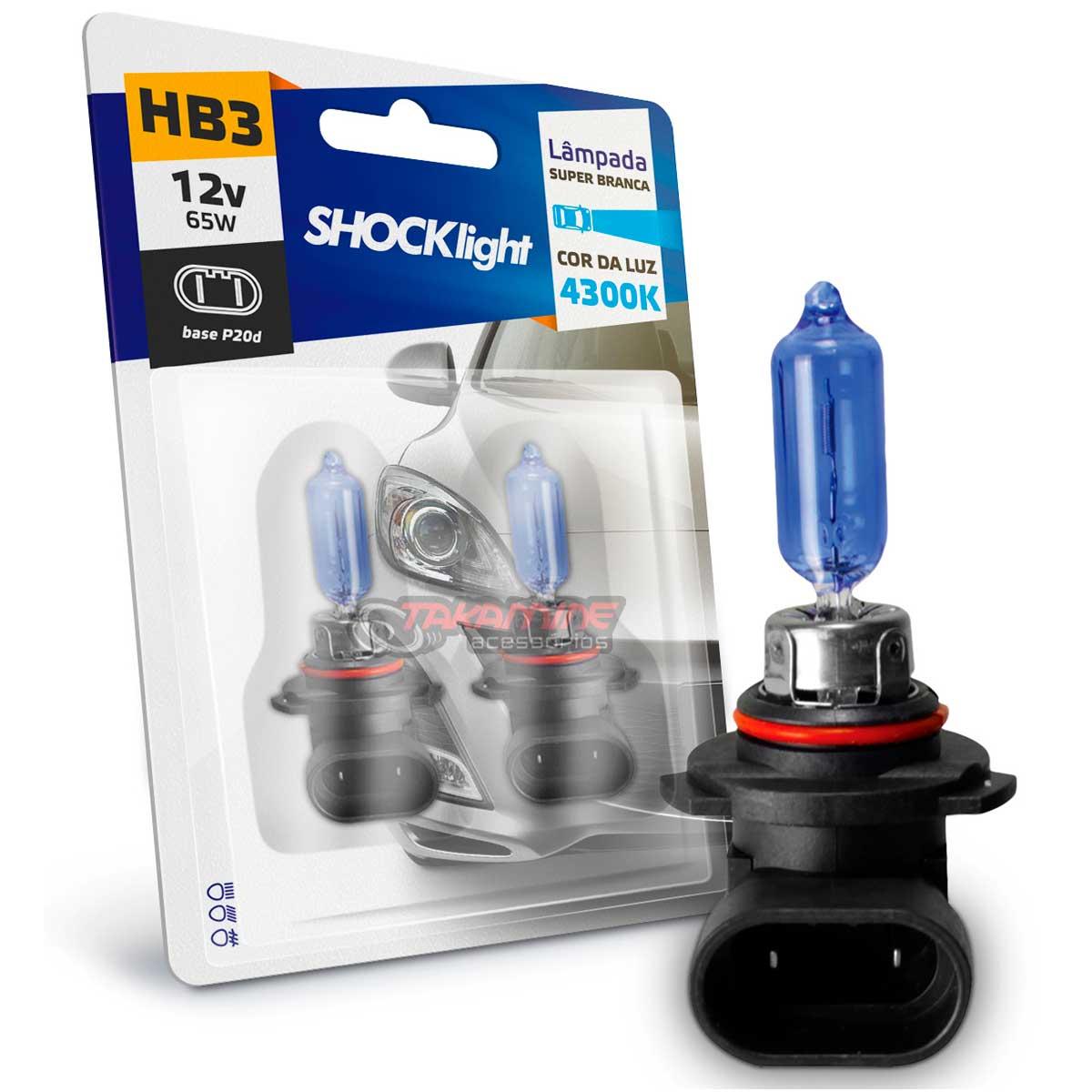 Lâmpada super branca HB3 4300K 65w 12v