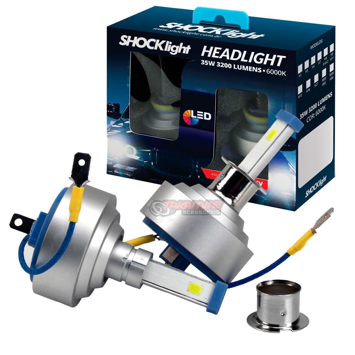 Kit LED tipo xenon modelo H3 35W encaixe original plug & play New Headlight