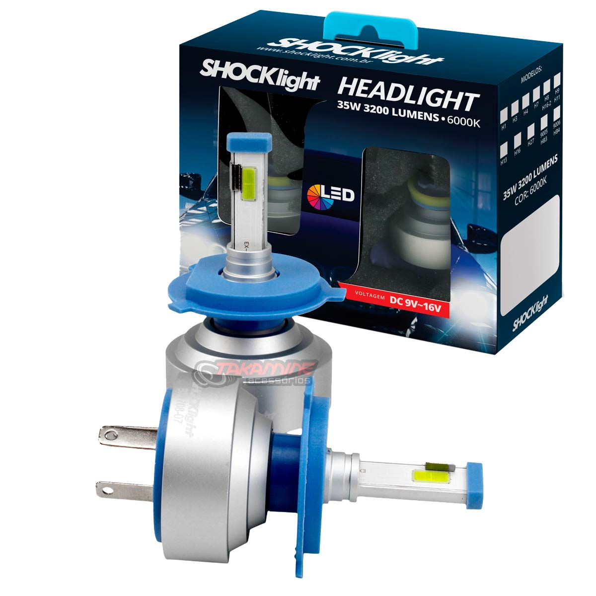 Kit LED tipo xenon modelo H4 35W encaixe original plug & play New Headlight