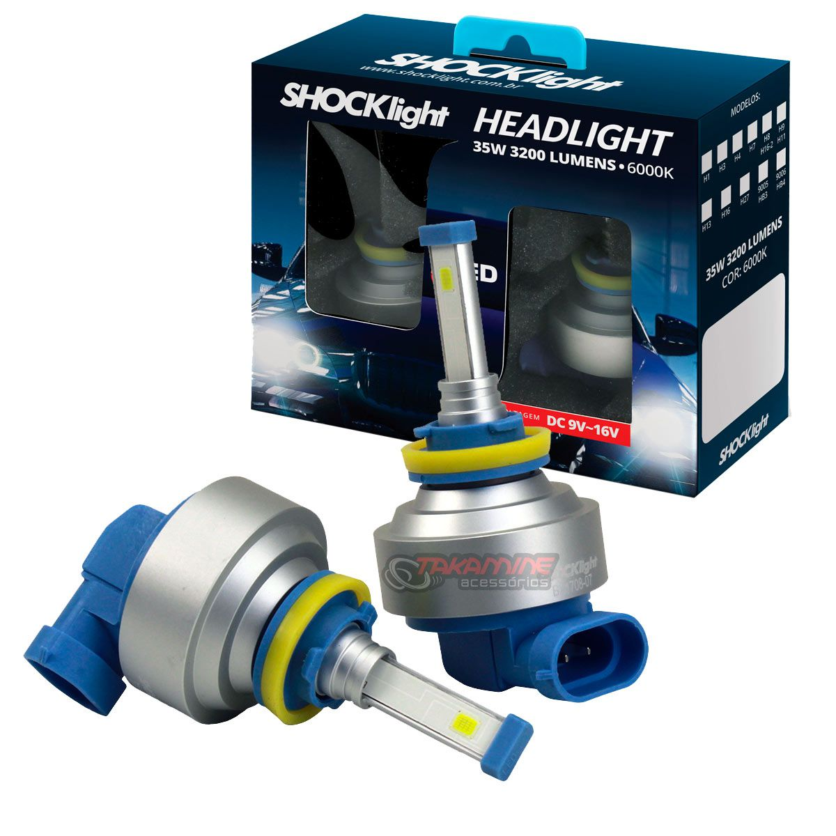 Kit LED tipo xenon modelo H8 35W encaixe original plug & play New Headlight