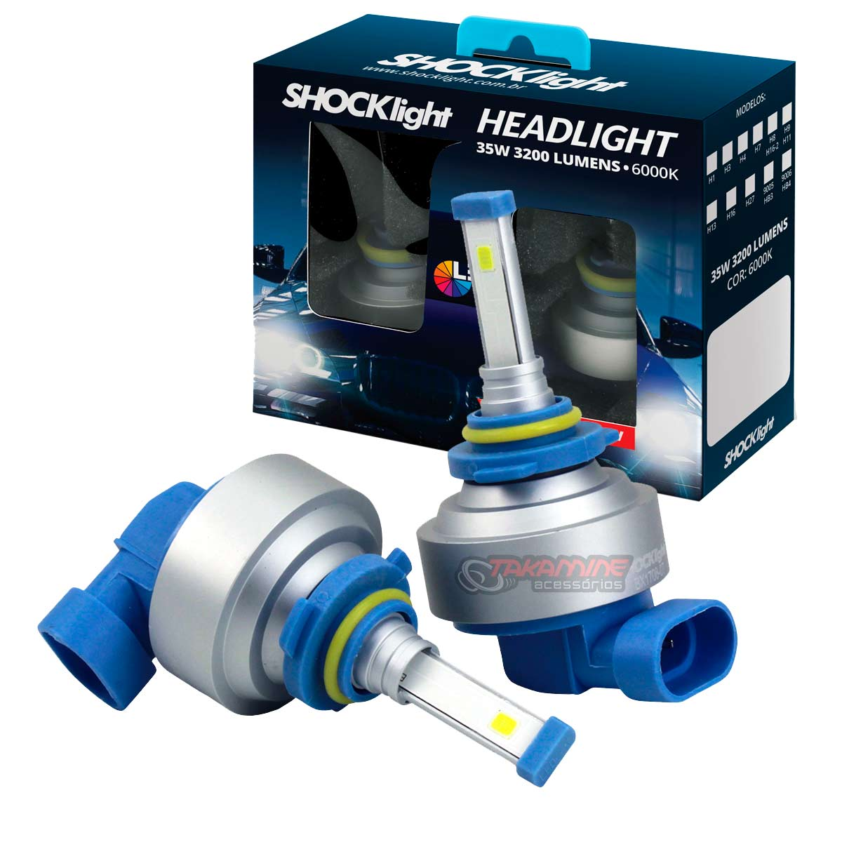 Kit LED tipo xenon modelo HB4/9006 35W encaixe original plug & play New Headlight