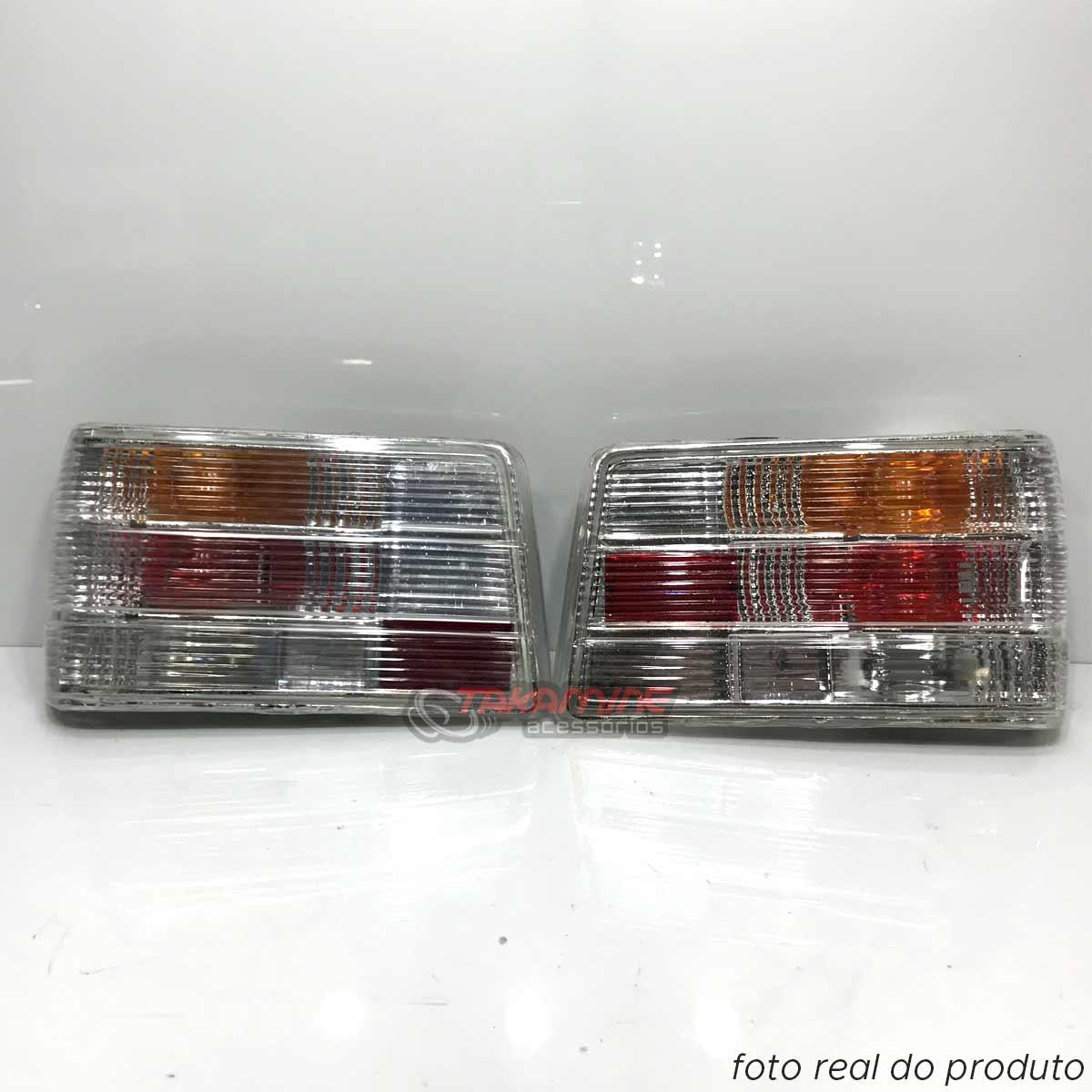 Lanterna traseira Chevette 1987 até 1993 cristal (PAR)
