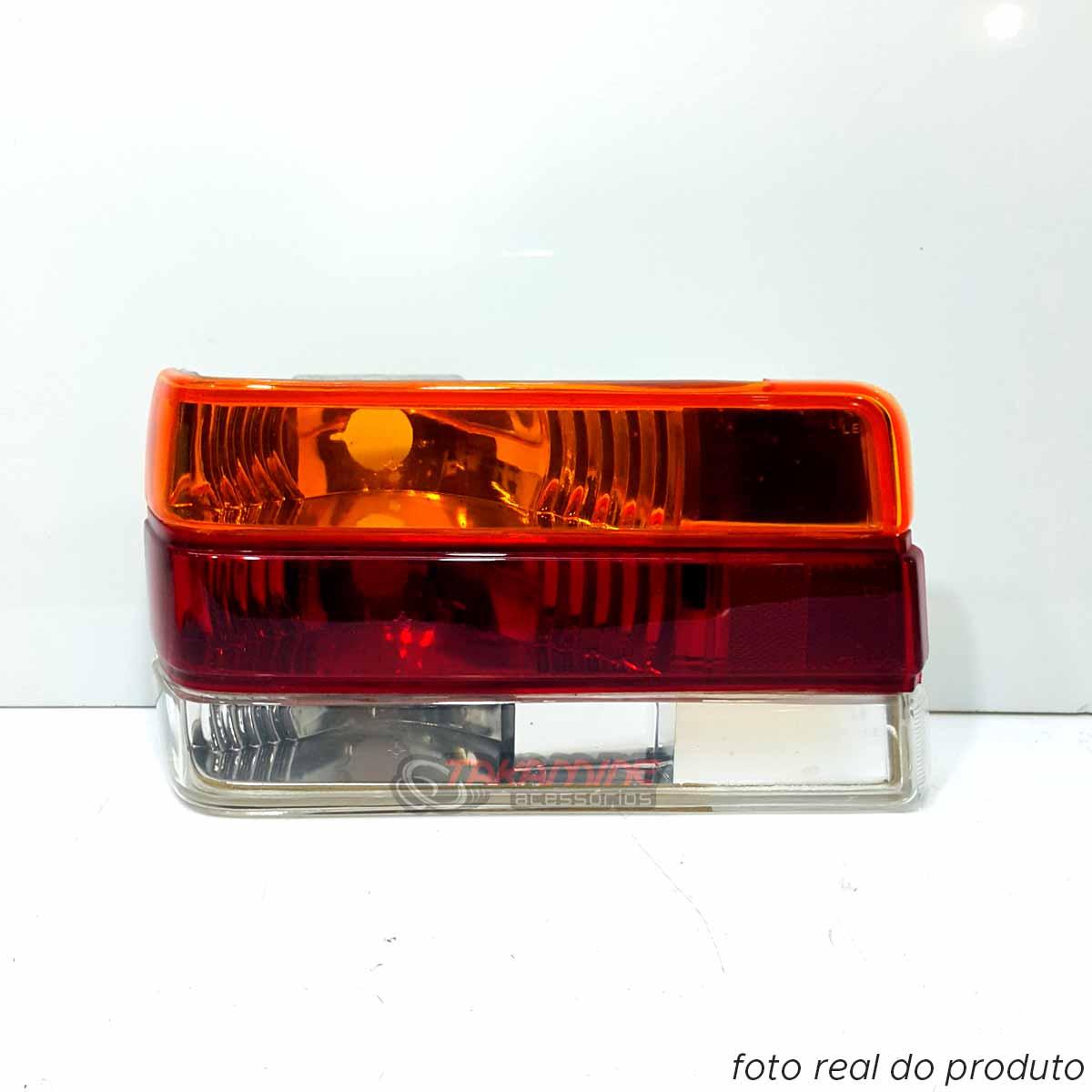 Lanterna traseira Chevette 1987 até 1993 Look 2000 tricolor lado esquerdo
