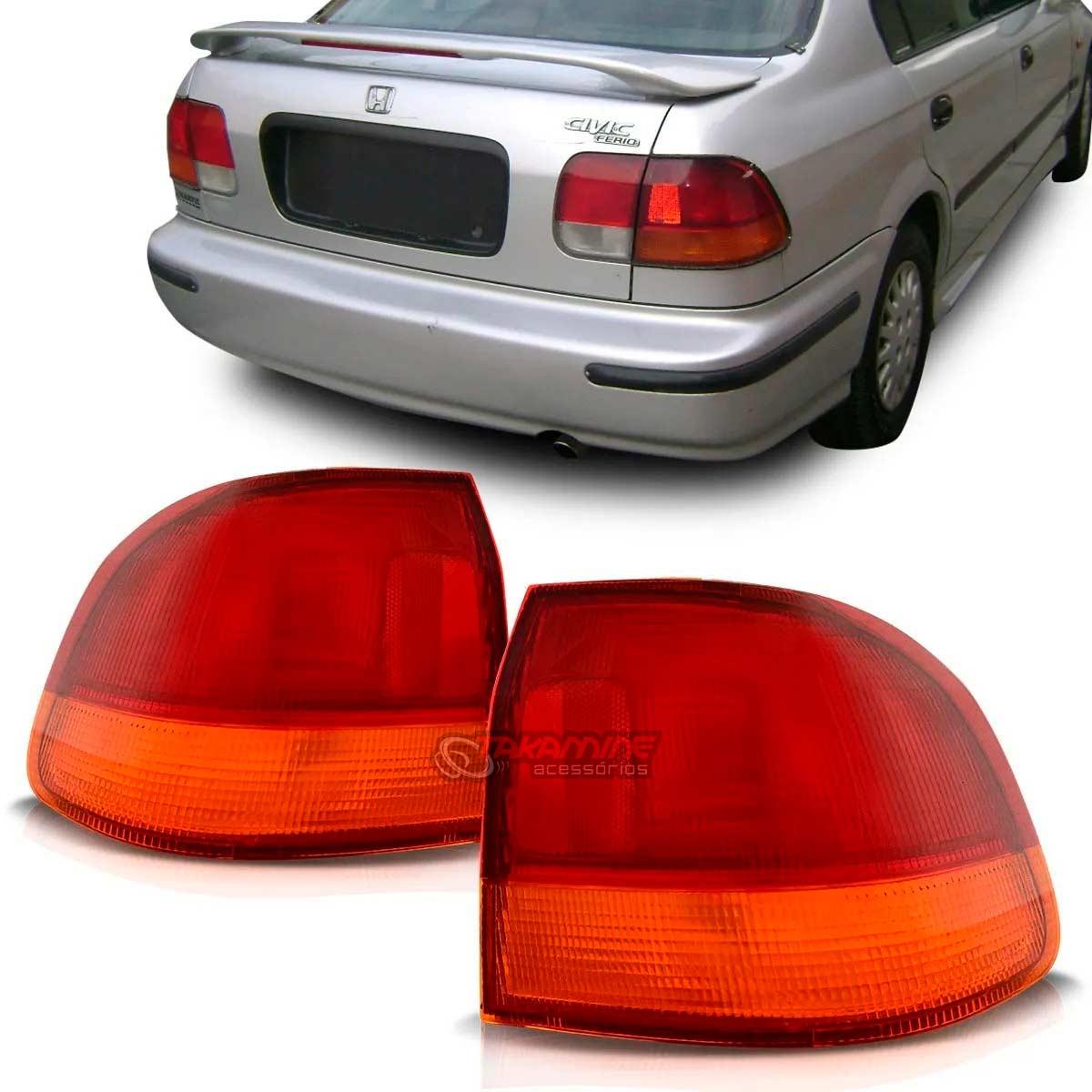 Lanterna traseira Civic 1996 1997 1998 bicolor (PAR)
