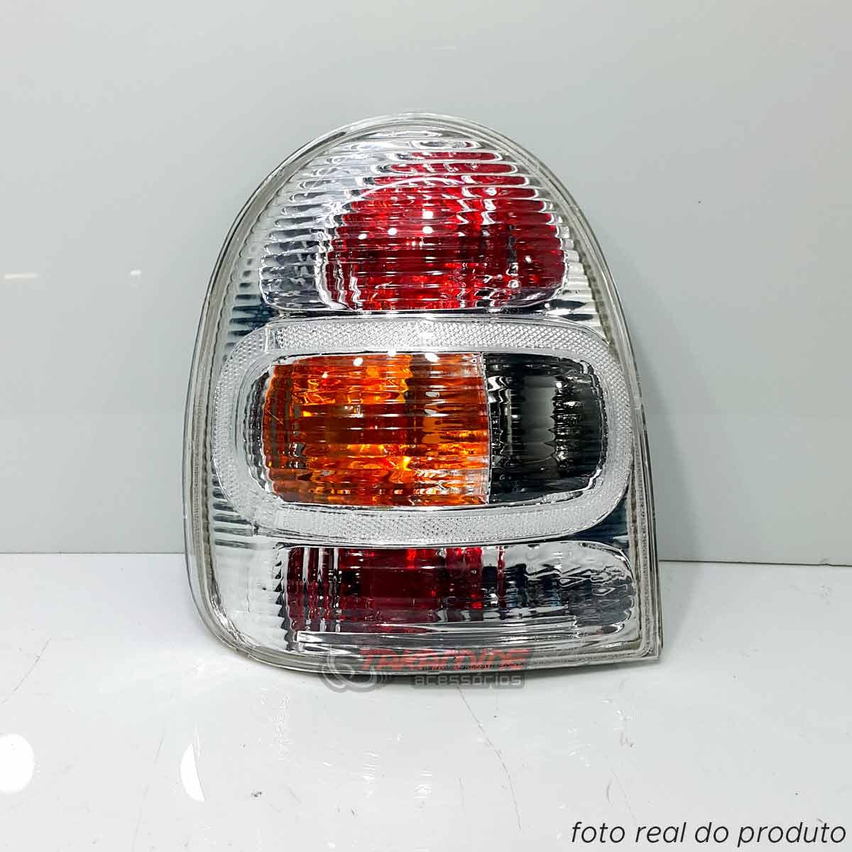 Lanterna traseira Corsa 2P 2000 2001 2002 cristal lado esquerdo
