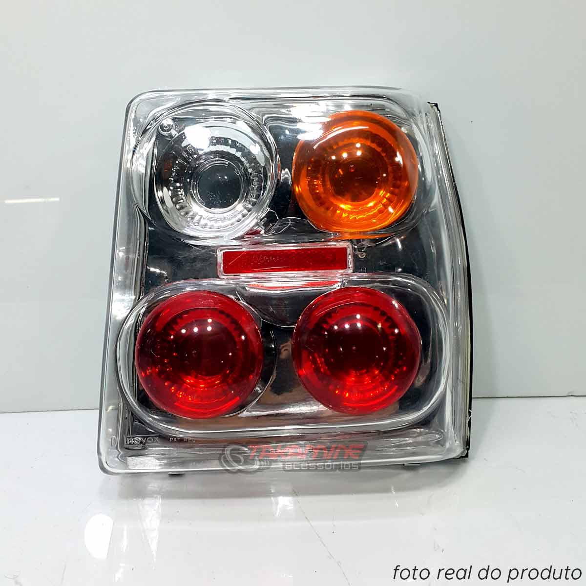 Lanterna traseira Fiat Uno 1985 até 2003 cristal lado direito