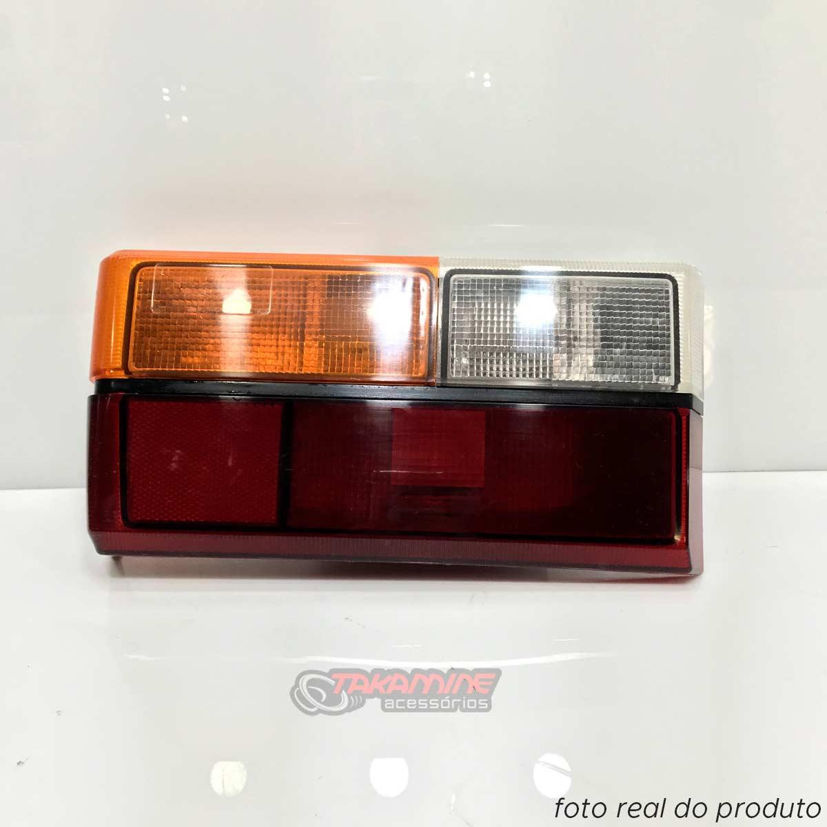 Lanterna traseira Gol 1980 1981 1982 1983 1984 1985 1986 tricolor original com friso preto lado esquerdo