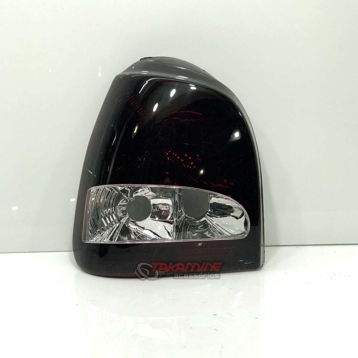 Lanterna traseira Gol Bola 1995 1996 1997 1998 1999 com borda preta bicolor lado esquerdo