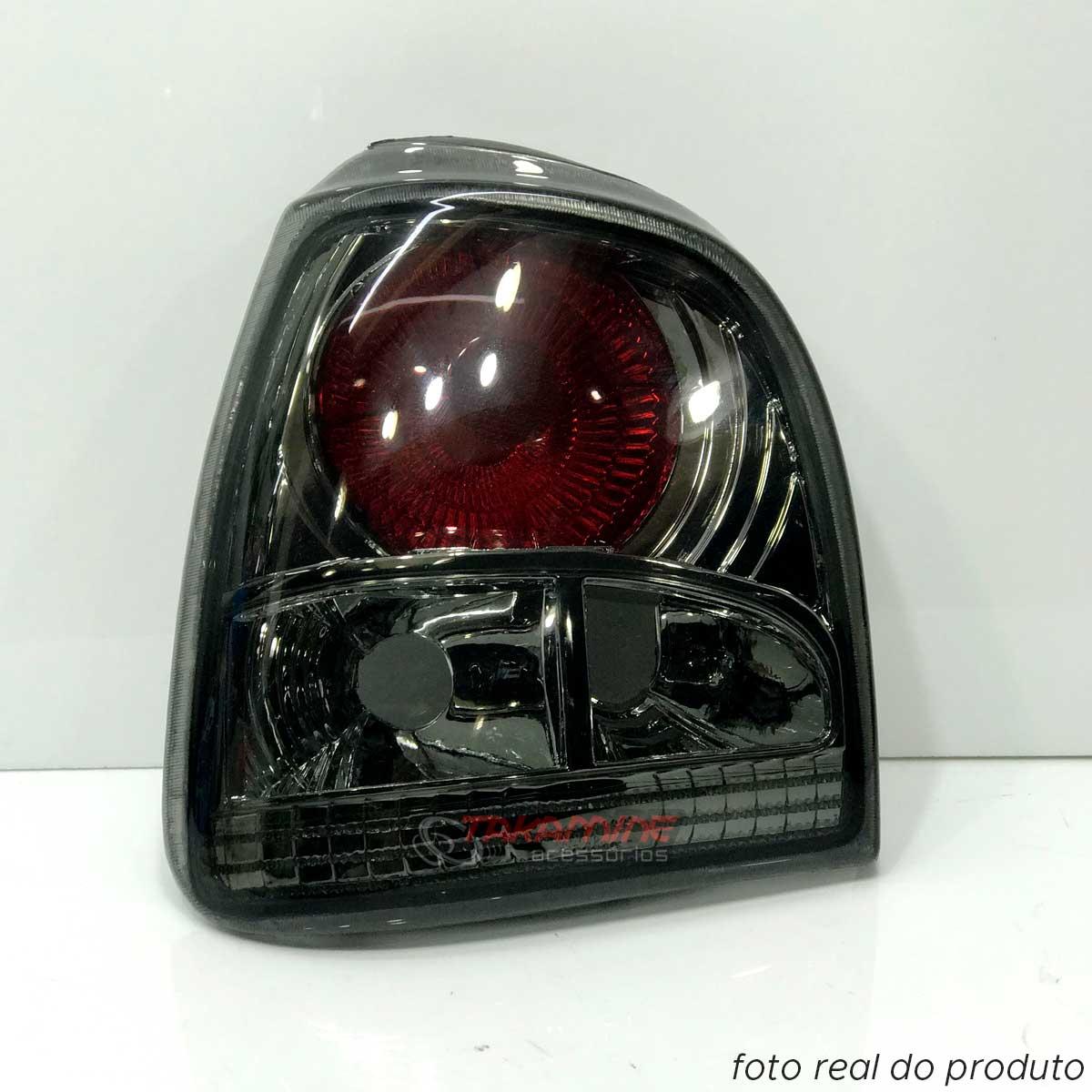 Lanterna traseira Gol Bola 1995 1996 1997 1998 1999  Evolution II fumê modelo cibié lado esquerdo