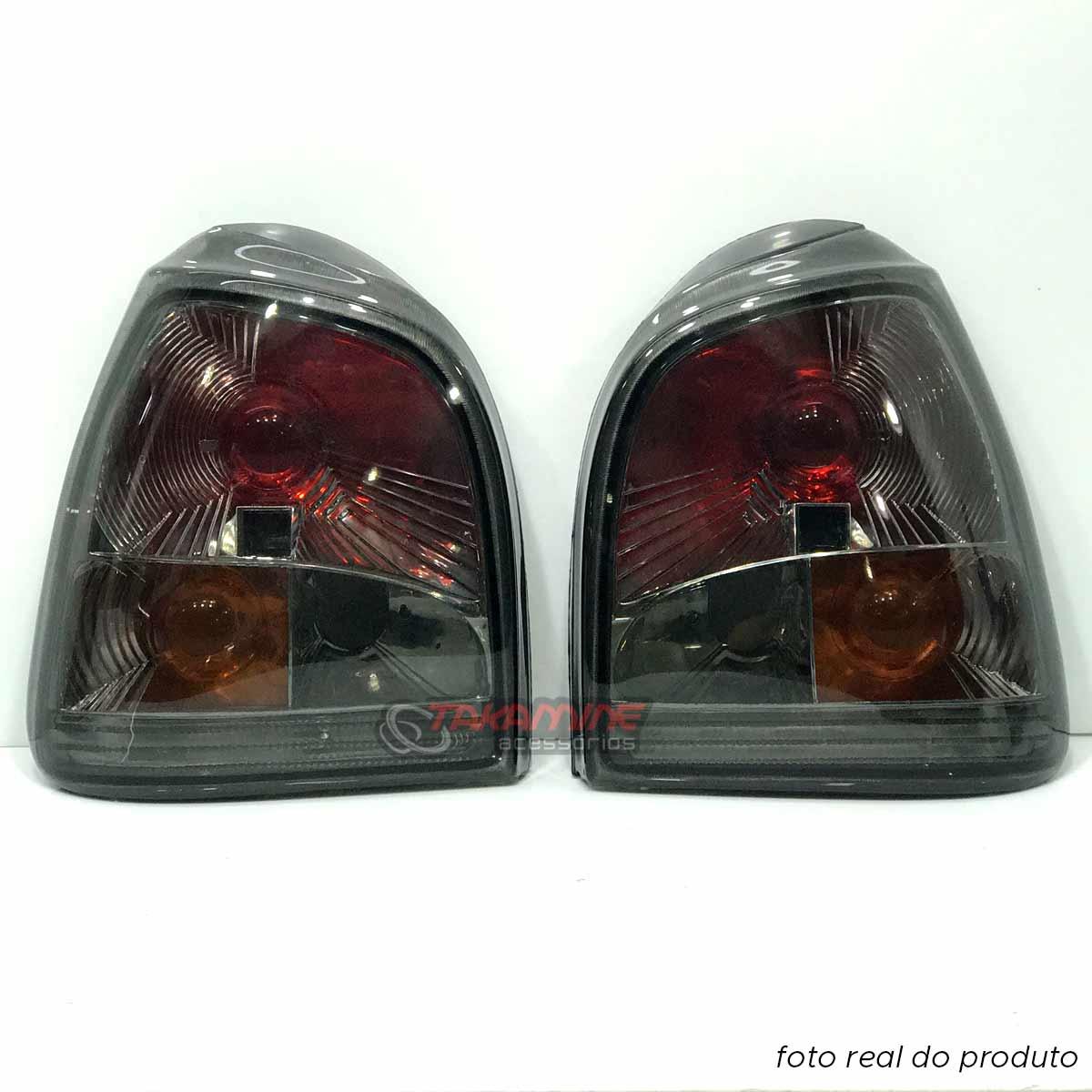Lanterna traseira Gol Bola 1995 1996 1997 1998 1999 Evolution II fumê modelo cibié (PAR)