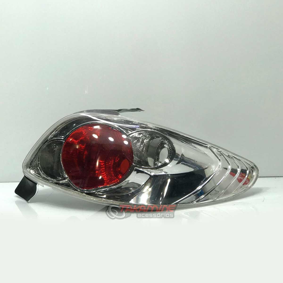 Lanterna traseira Peugeot 206 1996 até 2008 cristal (PAR)