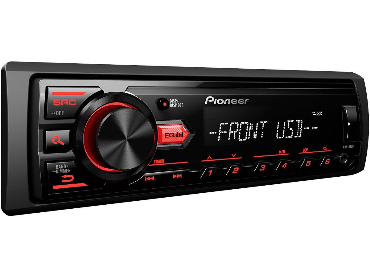 MP3 automotivo Pioneer MVH-98UB com entrada USB