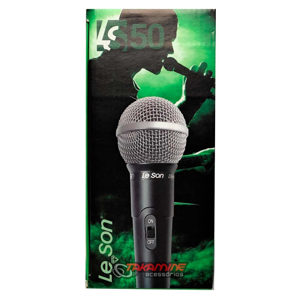 Microfone Le Son LS50 cardióide e unidirecional preto