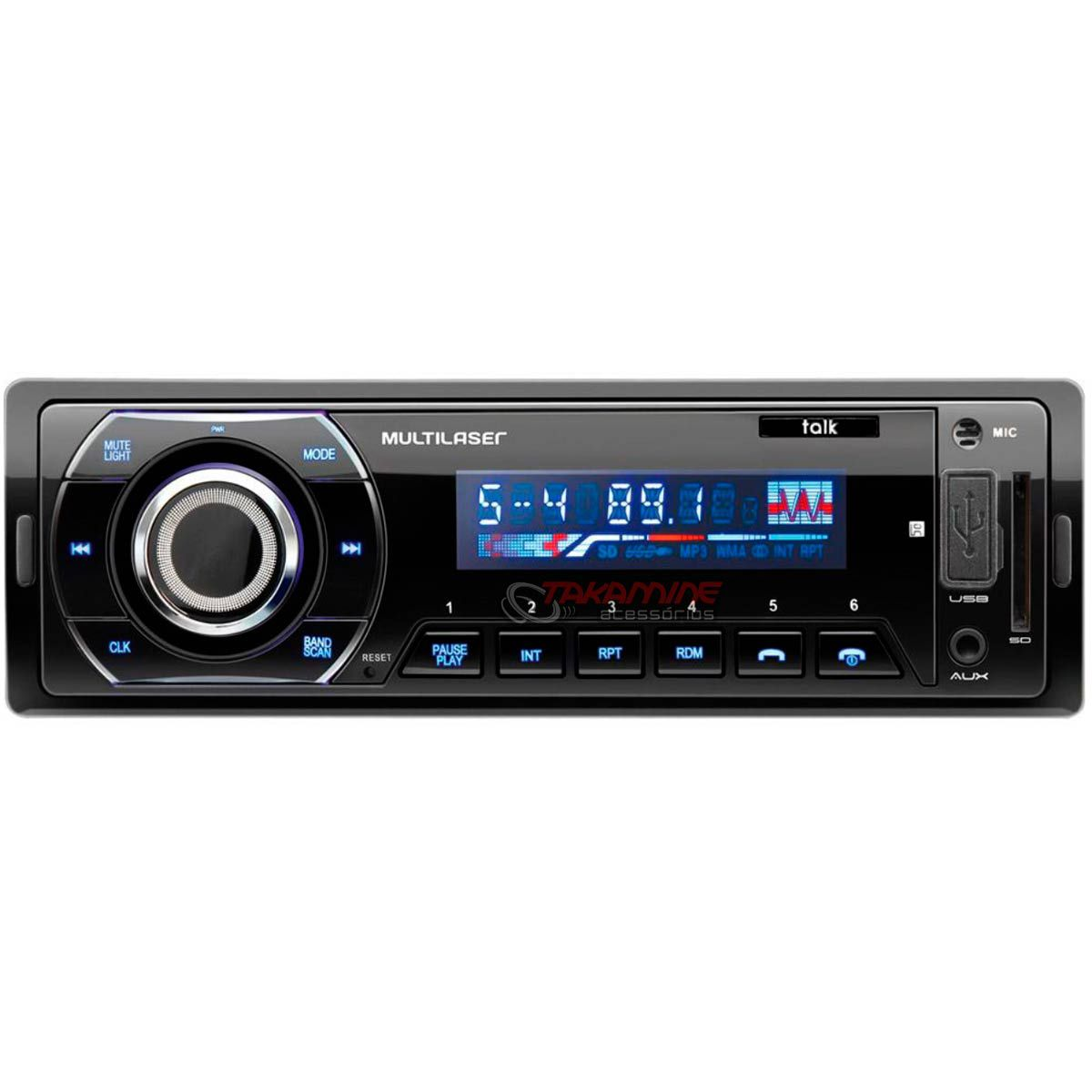 MP3 automotivo Multilaser Talk com bluetooth