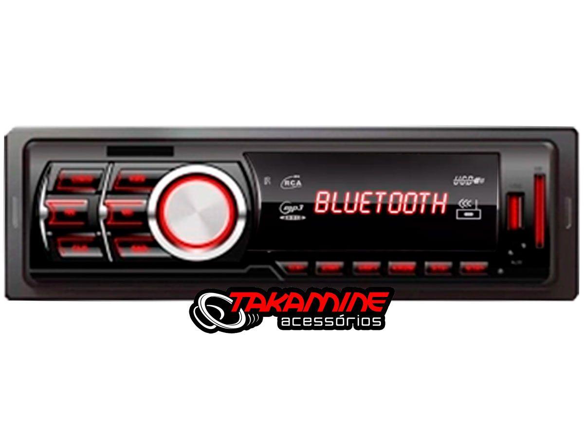MP3 automotivo First Option 6650BSC com Bluetooth USB SD AUX com controle