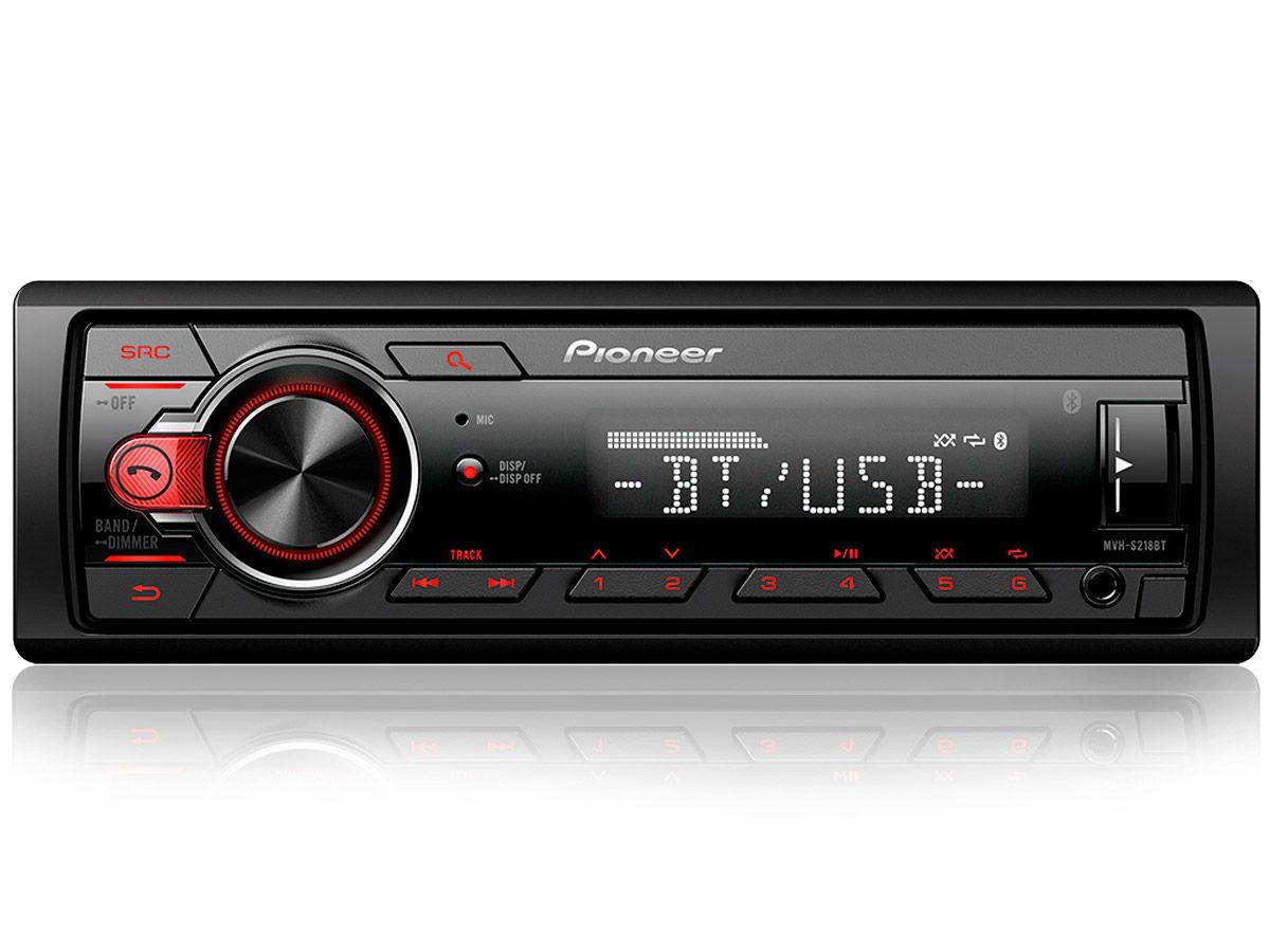 MP3 Player Pioneer MVH-S218BT com conexão Bluetooth e entrada USB