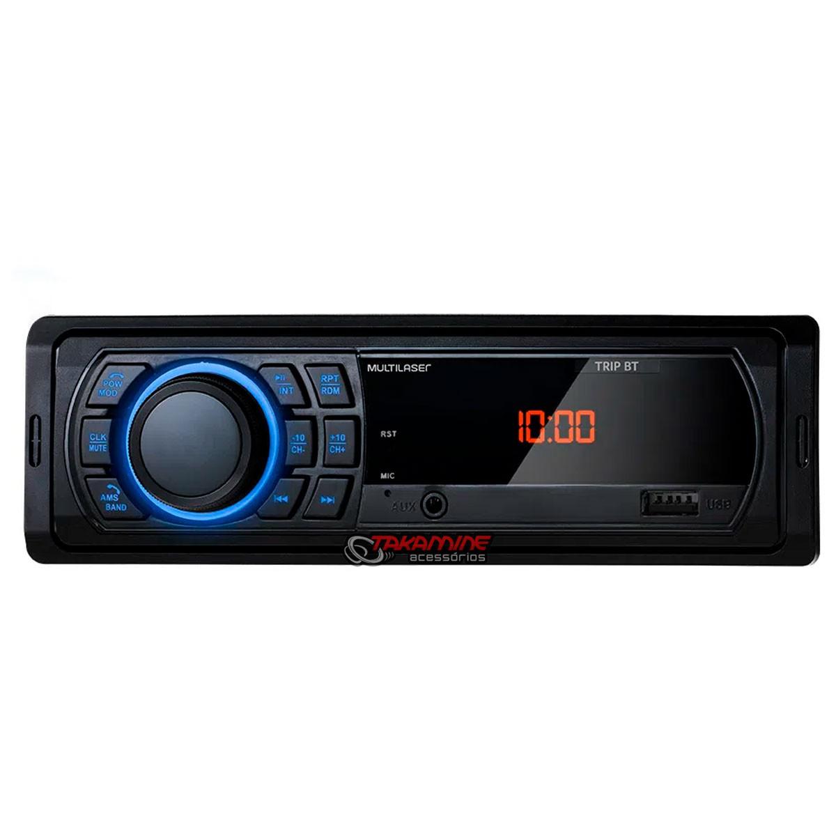 MP3 som automotivo Multilaser Trip BT