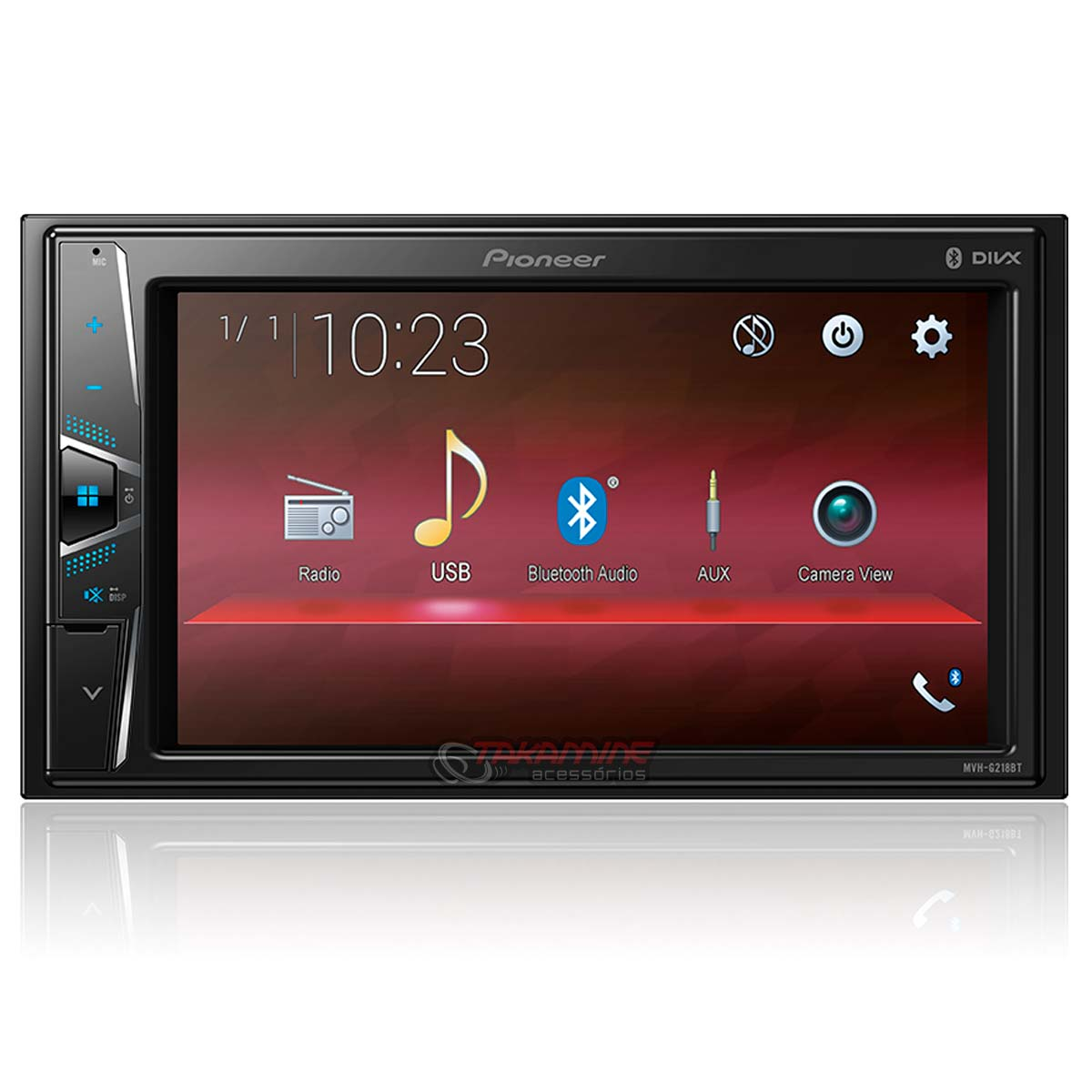 Multimídia Pioneer 2 Din MVH G218BT com Bluetooth