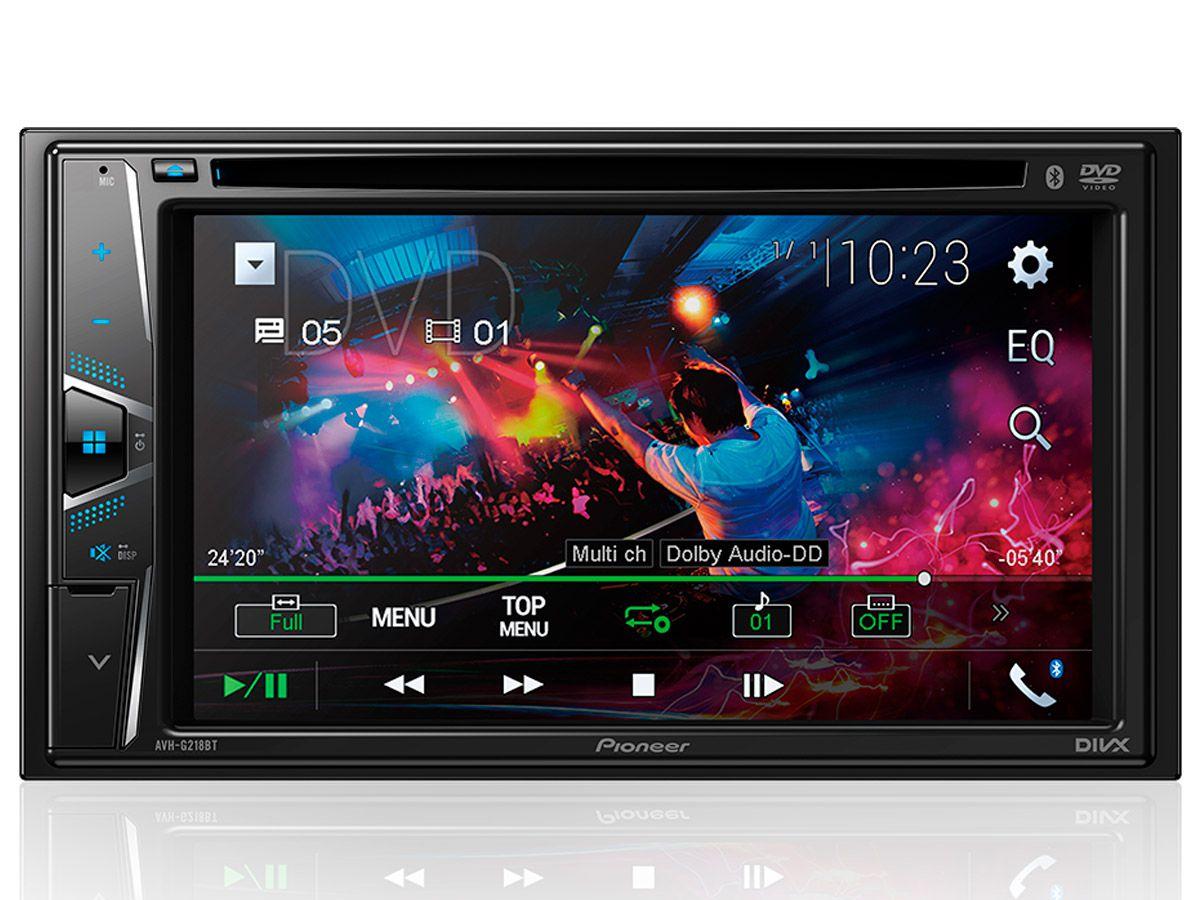 Multimídia receiver Pioneer AVH-G218BT 6,2 com Bluetooth