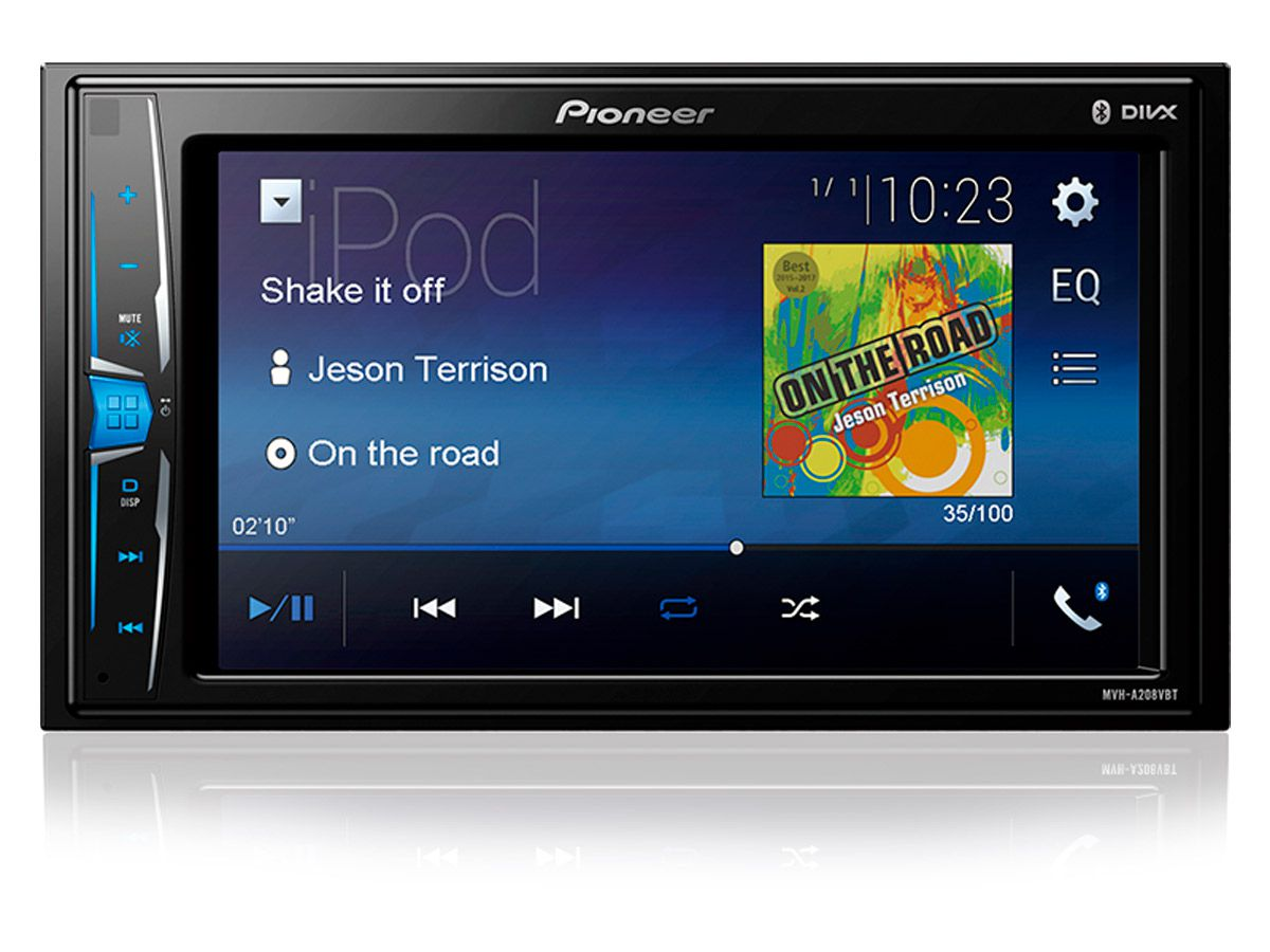 "Multimídia Receiver Pioneer MVH-A208VBT 6,2"" com Bluetooth"